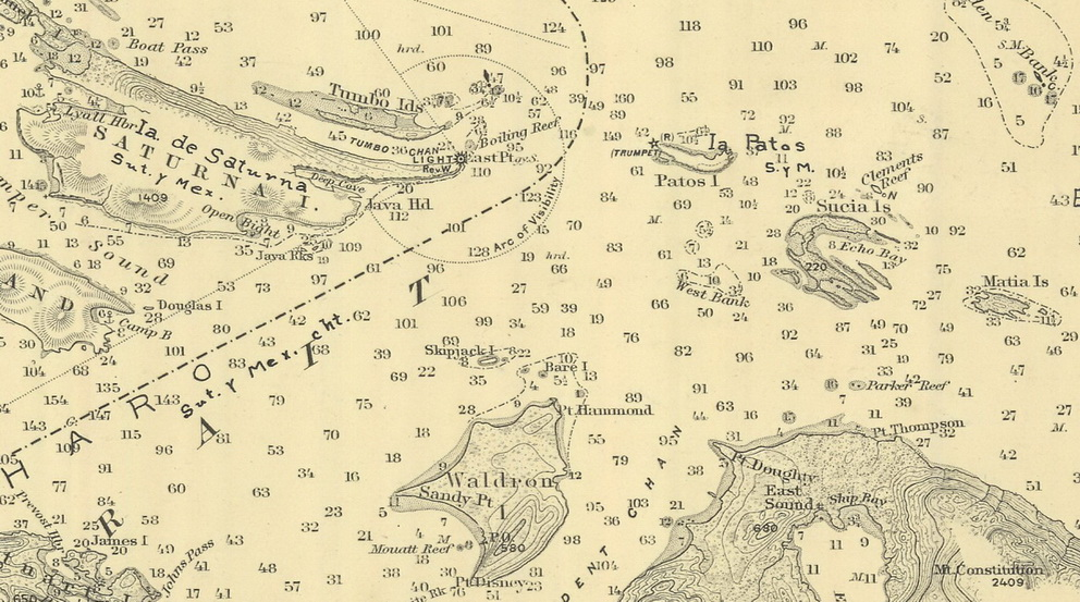 The Image To Right Is A High Res Clip From 1898 Chart Displayed Above It Click Enlarge