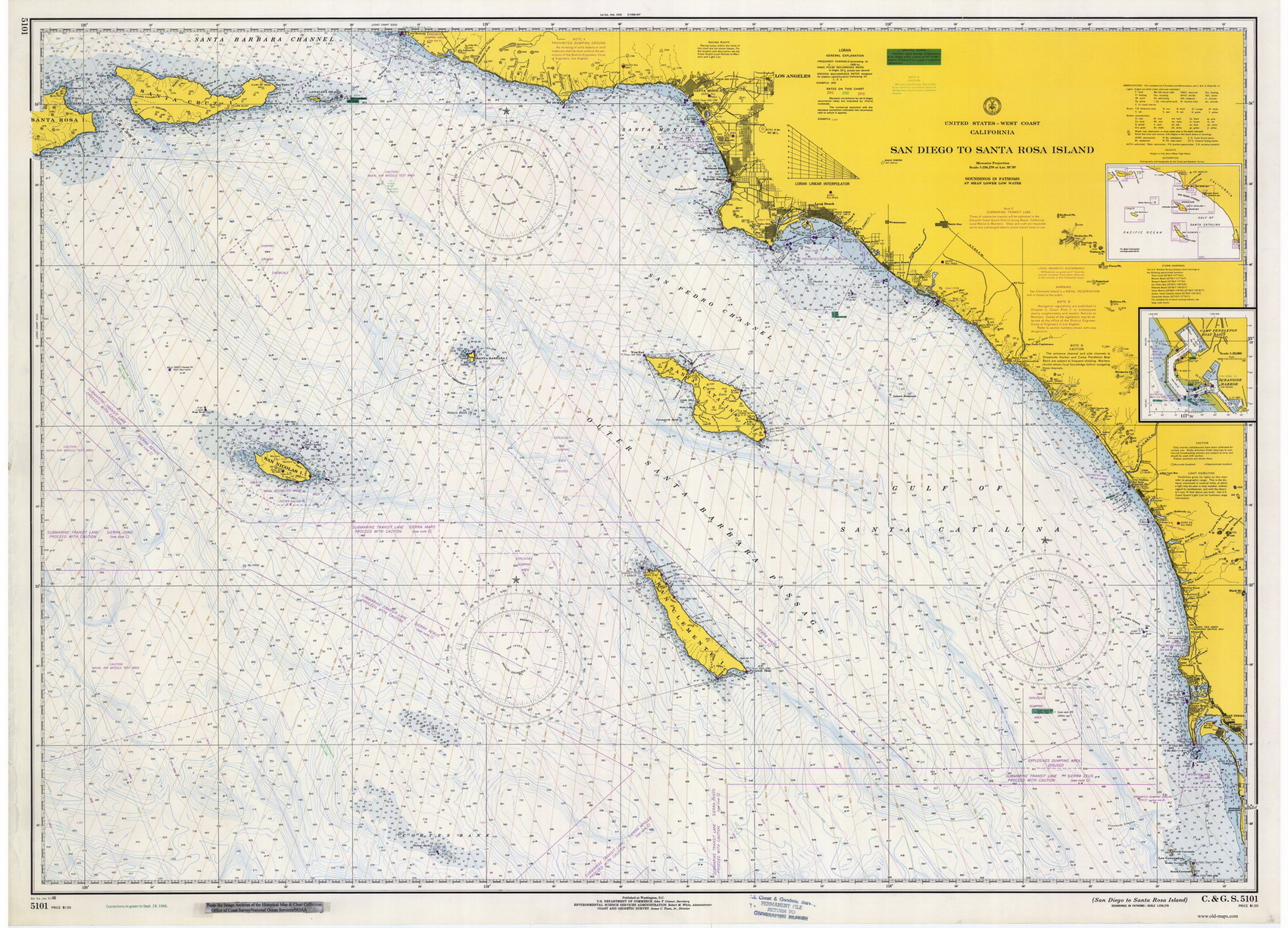 Pacific Coast Nautical Chart