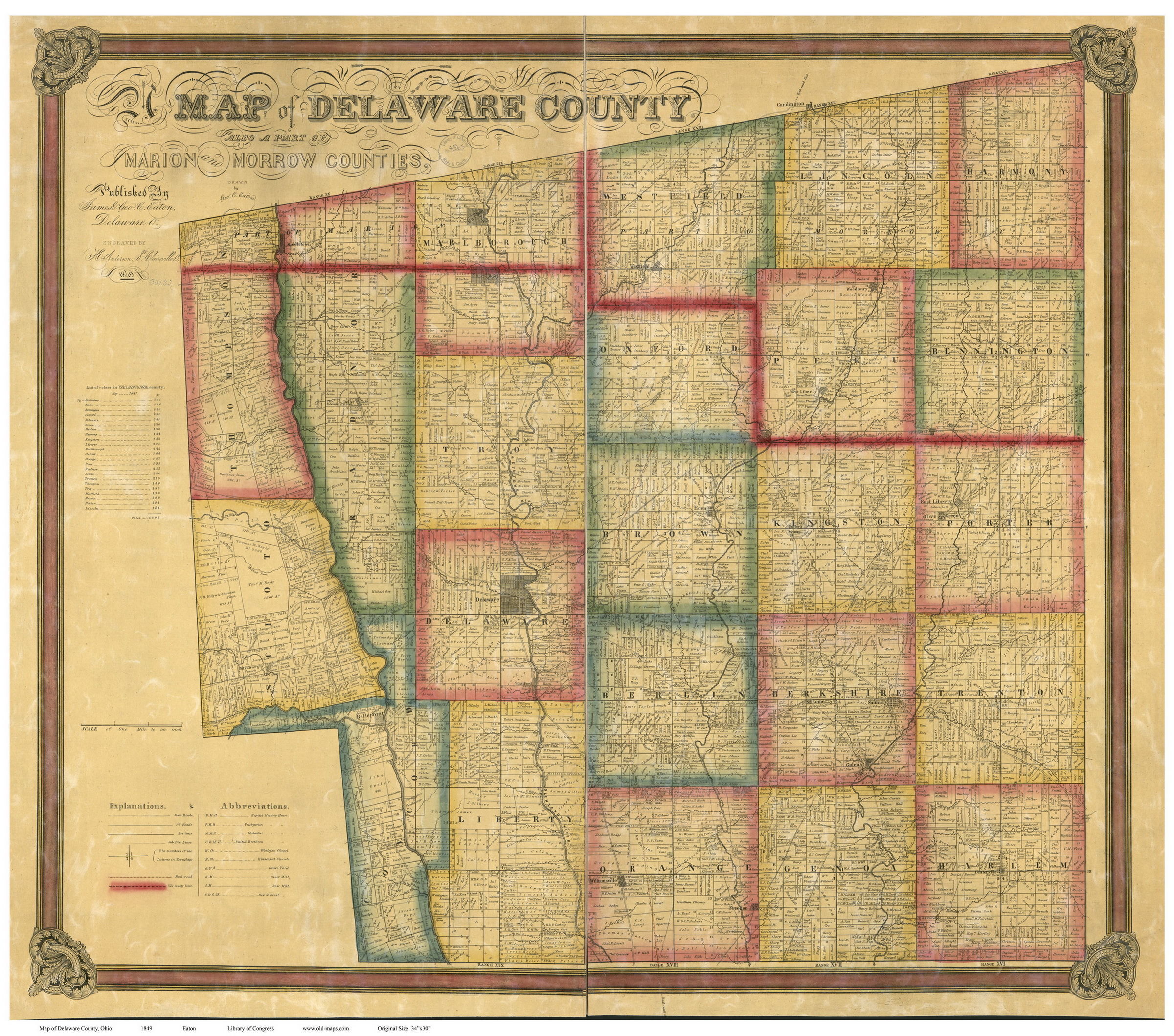 Old Maps - Antique map reproductions for sale