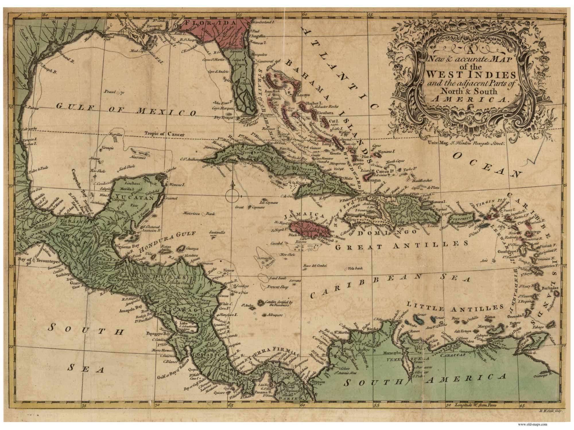 Old Maps of the Caribbean