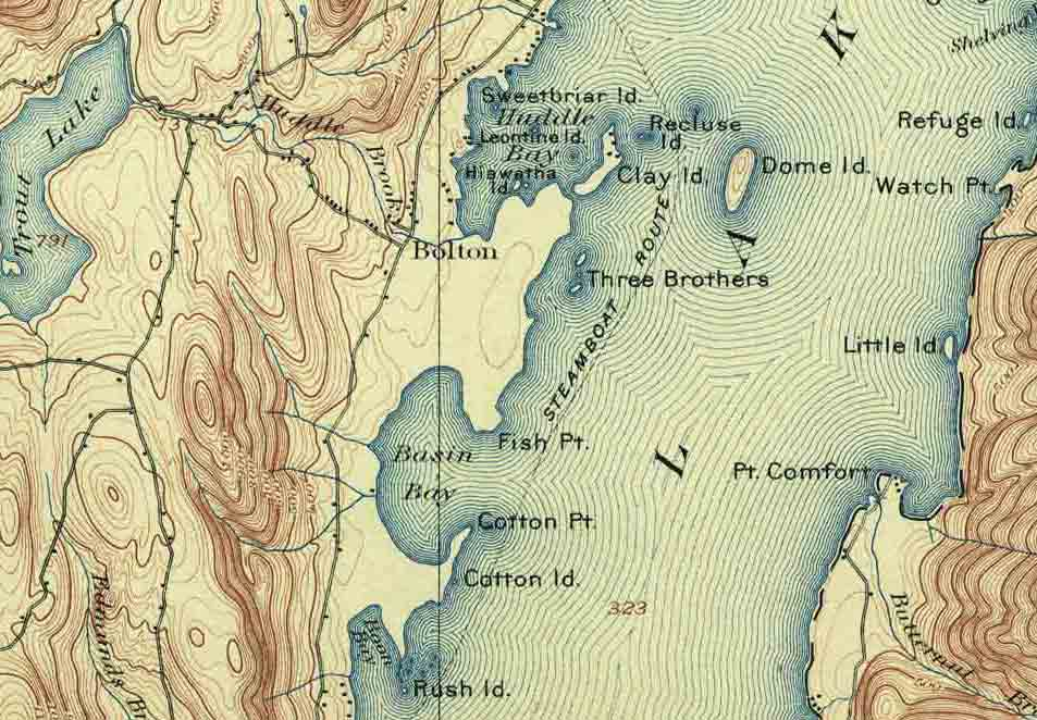 Lake George Map Cool Maps, - World Map Database