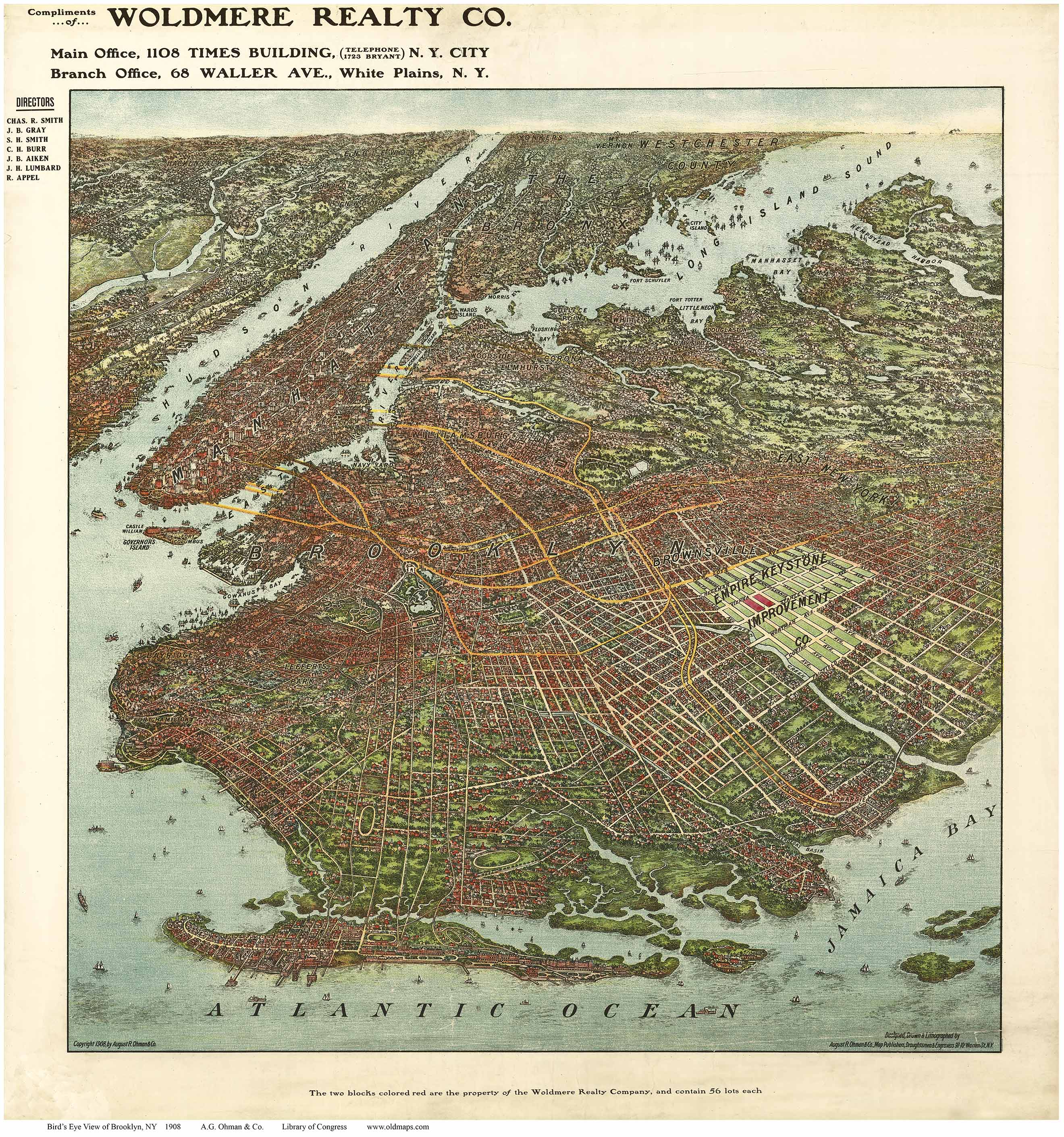 New York 1851 Historic Panoramic Town Map New York City 24x32