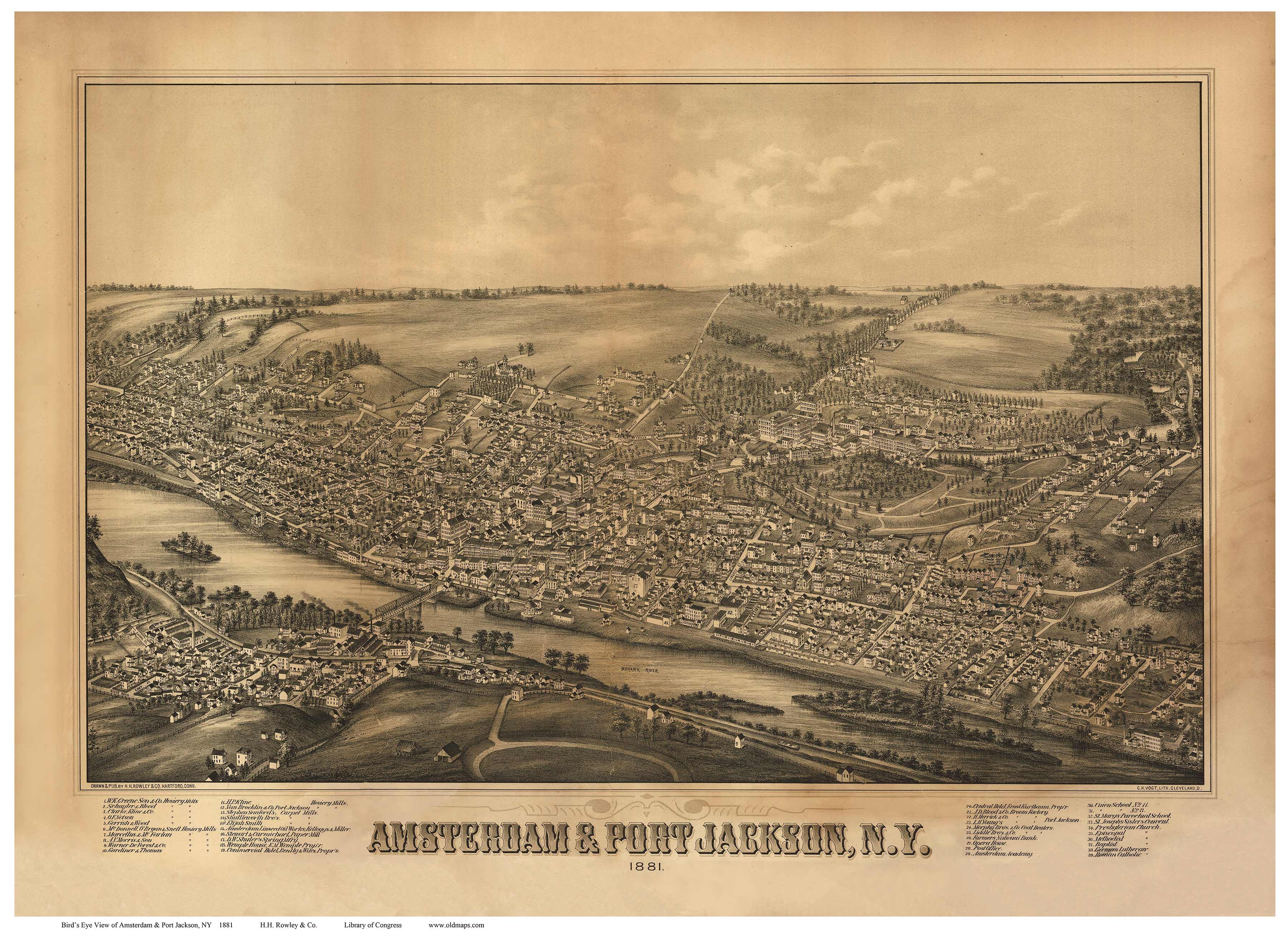 Map Of New York 1800.Ny Bird S Eye Views