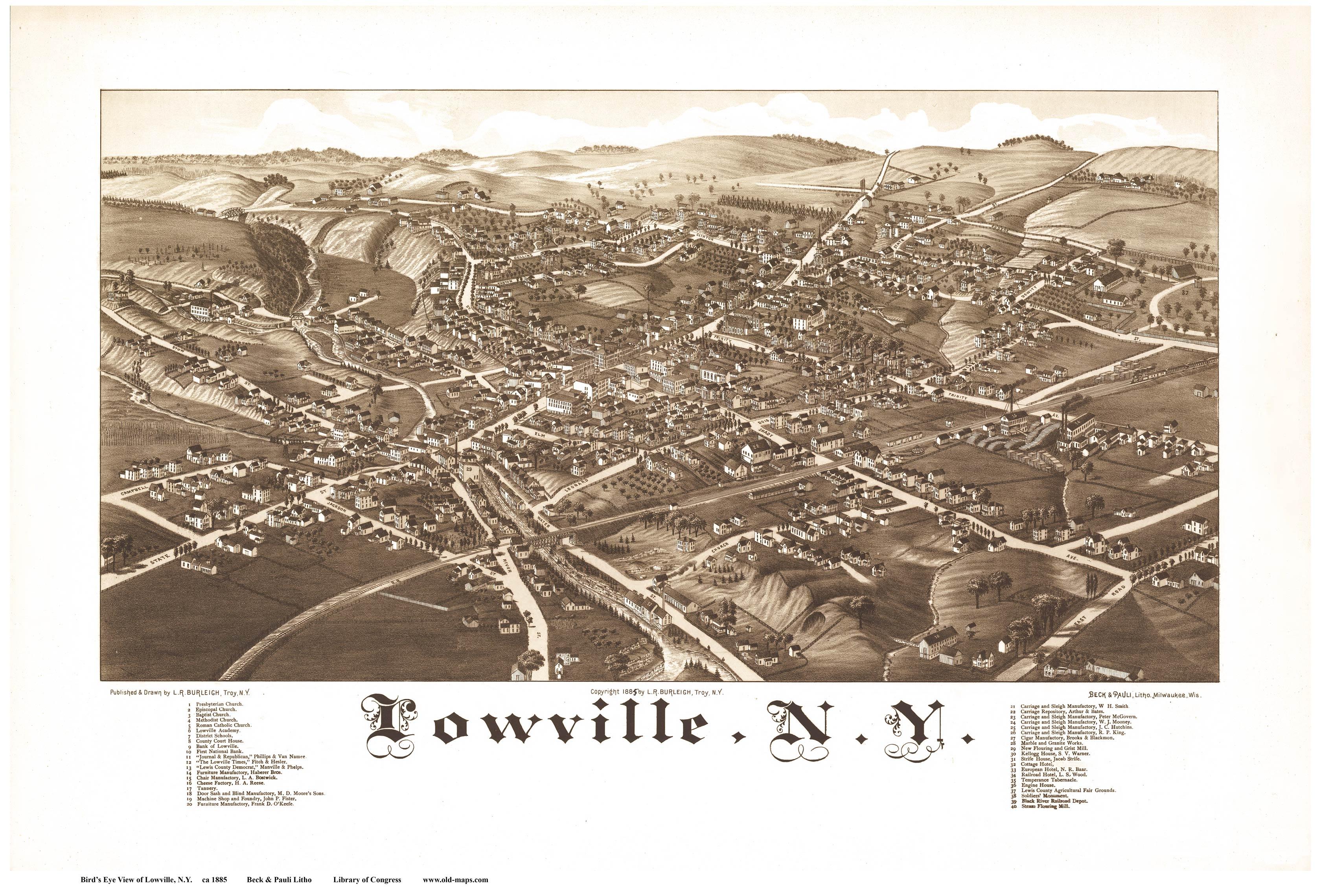 Cazenovia 1890 20 5 X 33 Lowville 1885
