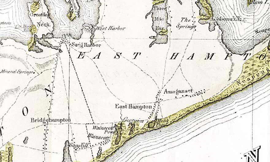 Geological Map of Long Island  environs of New York  1842 Mathers