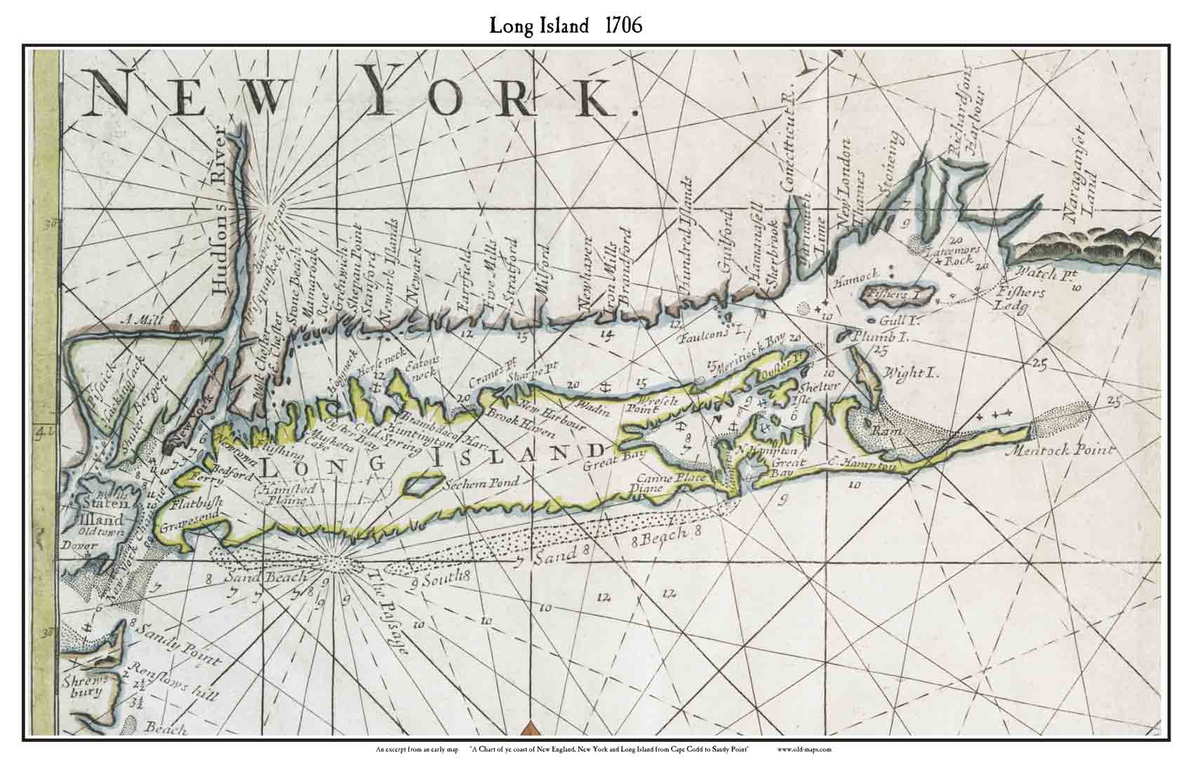 Map Of New York And Long Island.Old Maps Of Long Island New York