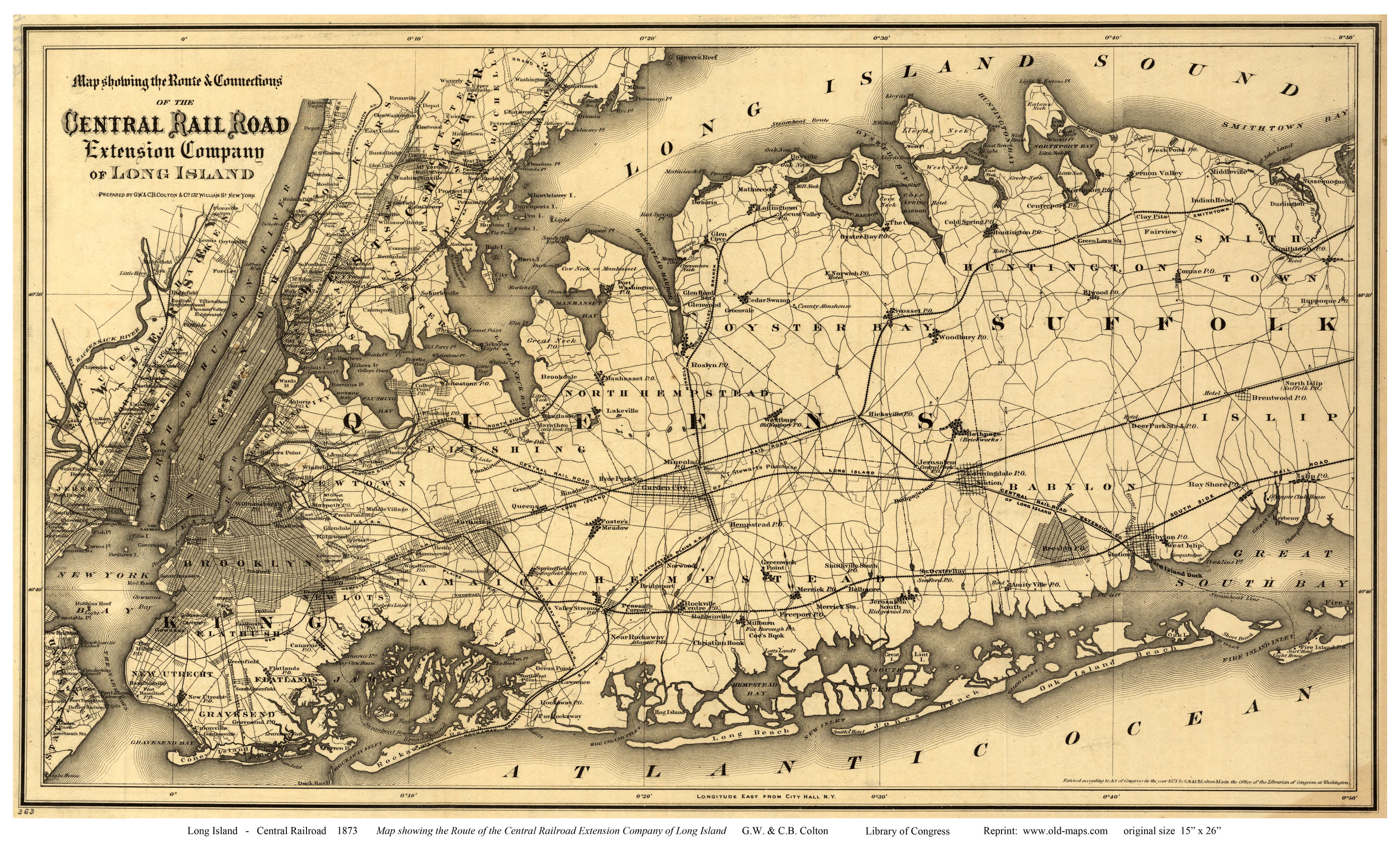 Old Maps of Long Island New York