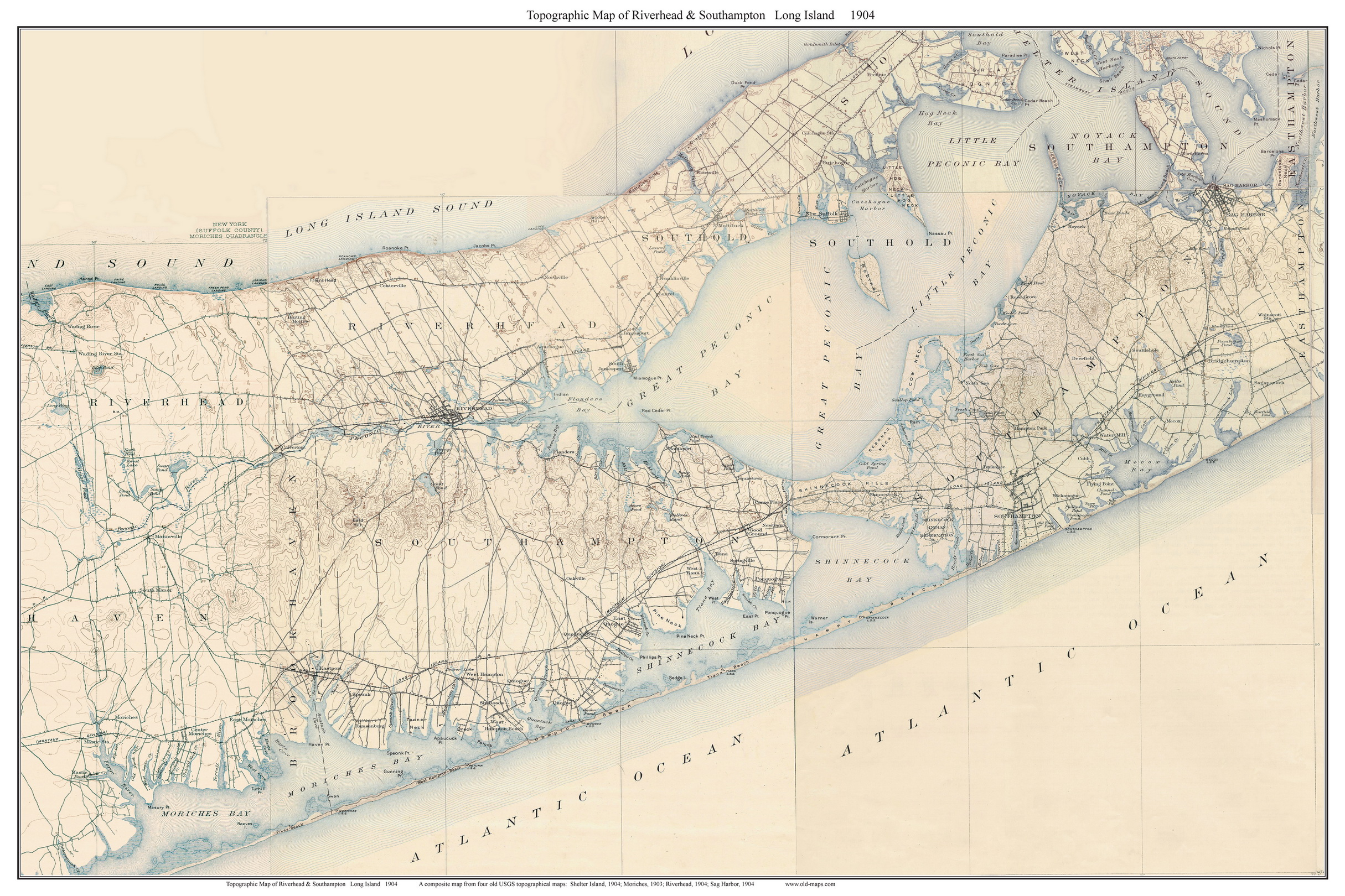 Old USGS Topographical Maps Of Long Island New York Large - Nyc map topographic