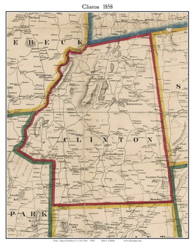 Old Maps of Dutchess County New York 1858