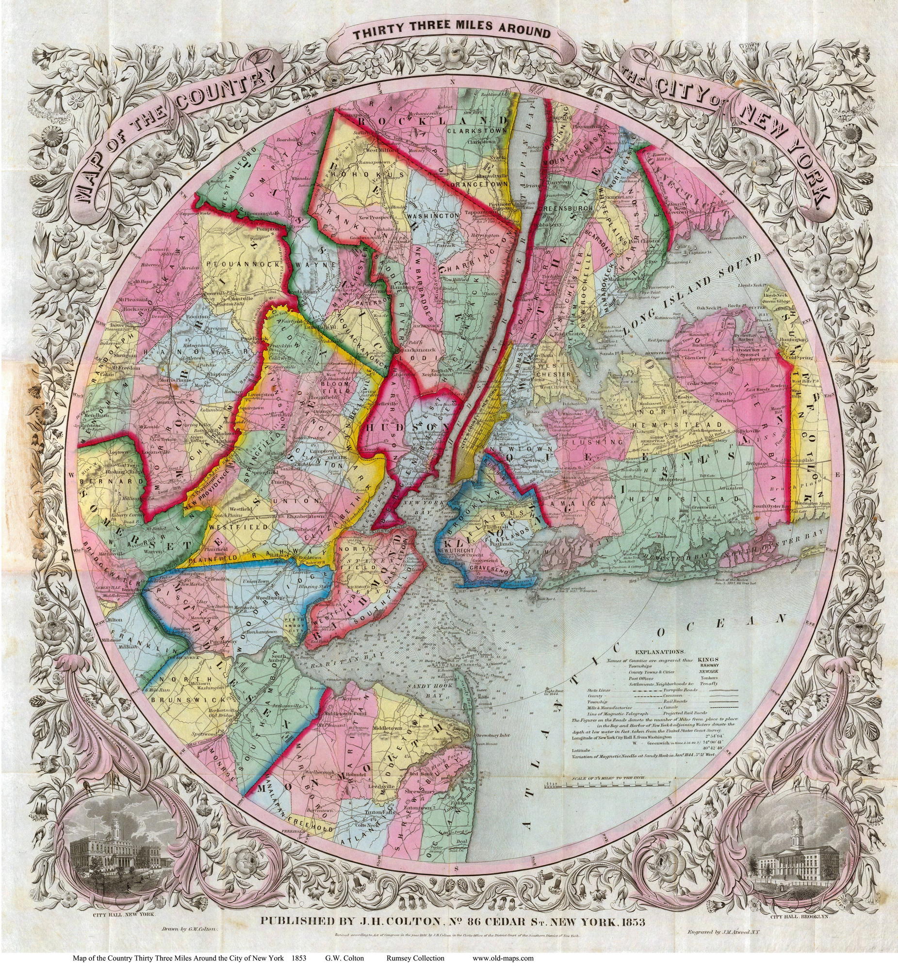 Old Maps Of Manhattan New York City - Nyc map by area