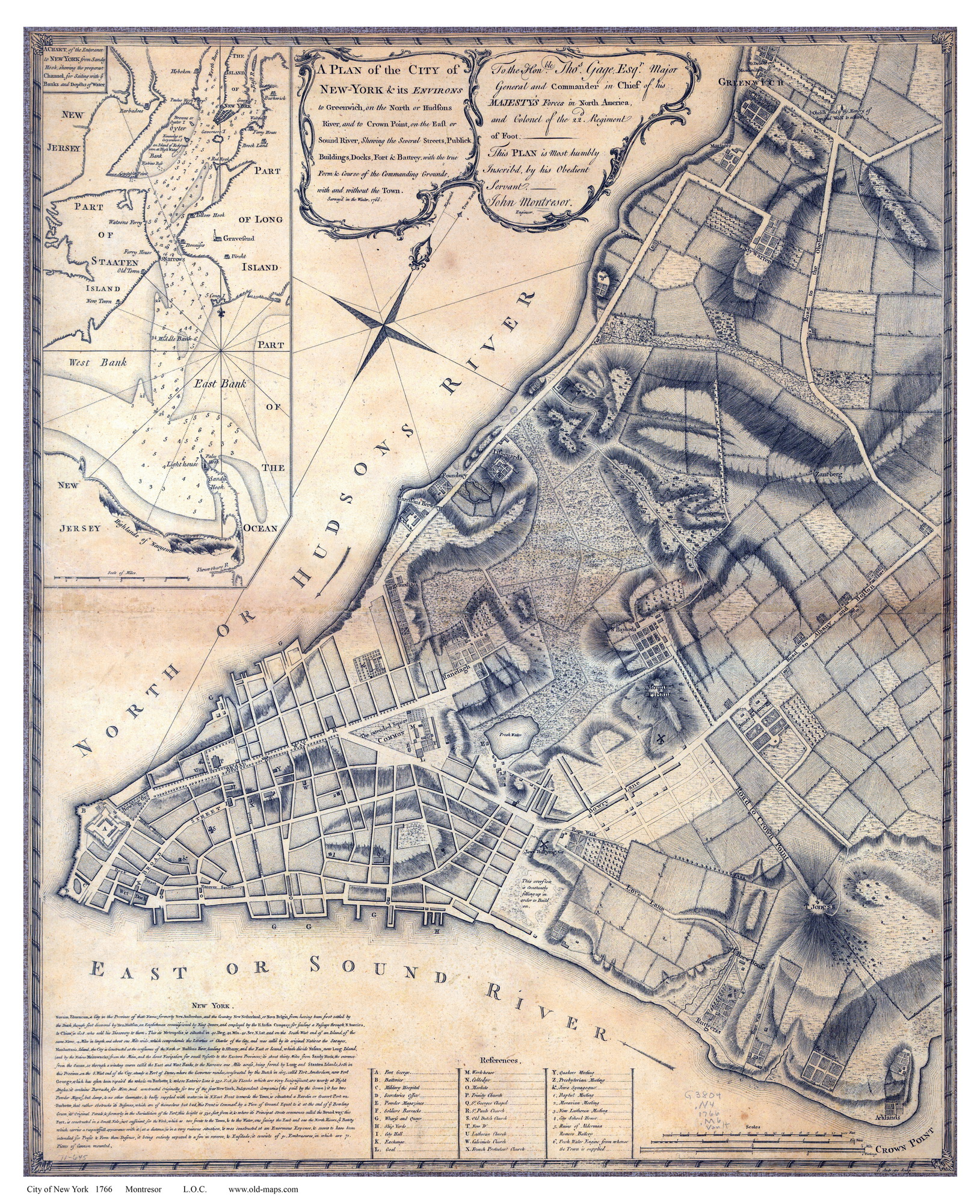 Old Map Of New York.Old Maps Of Manhattan New York City