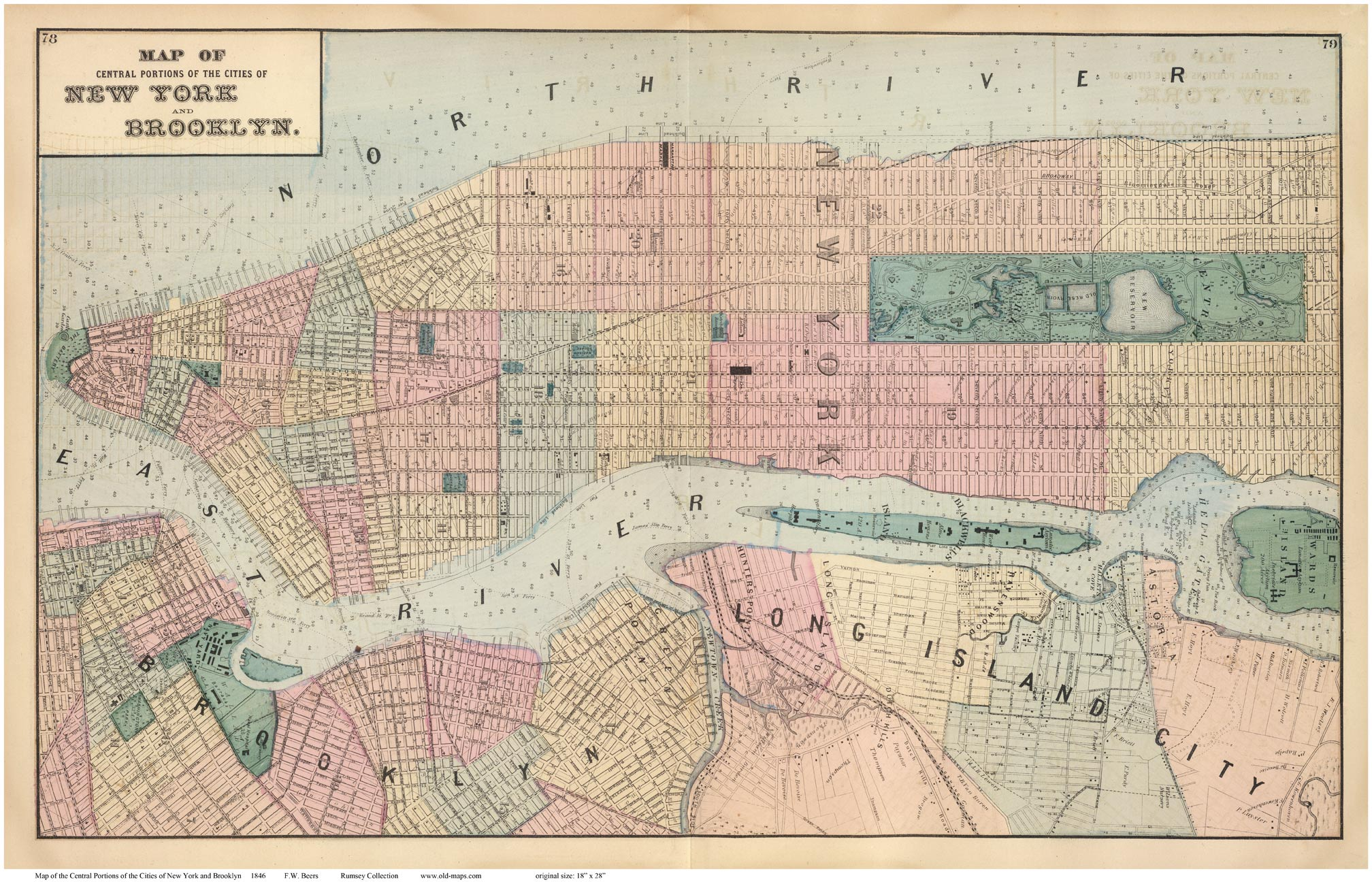 Old Maps of Manhattan New York City