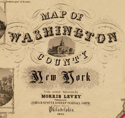 Old Maps Of Washington County New York 1858