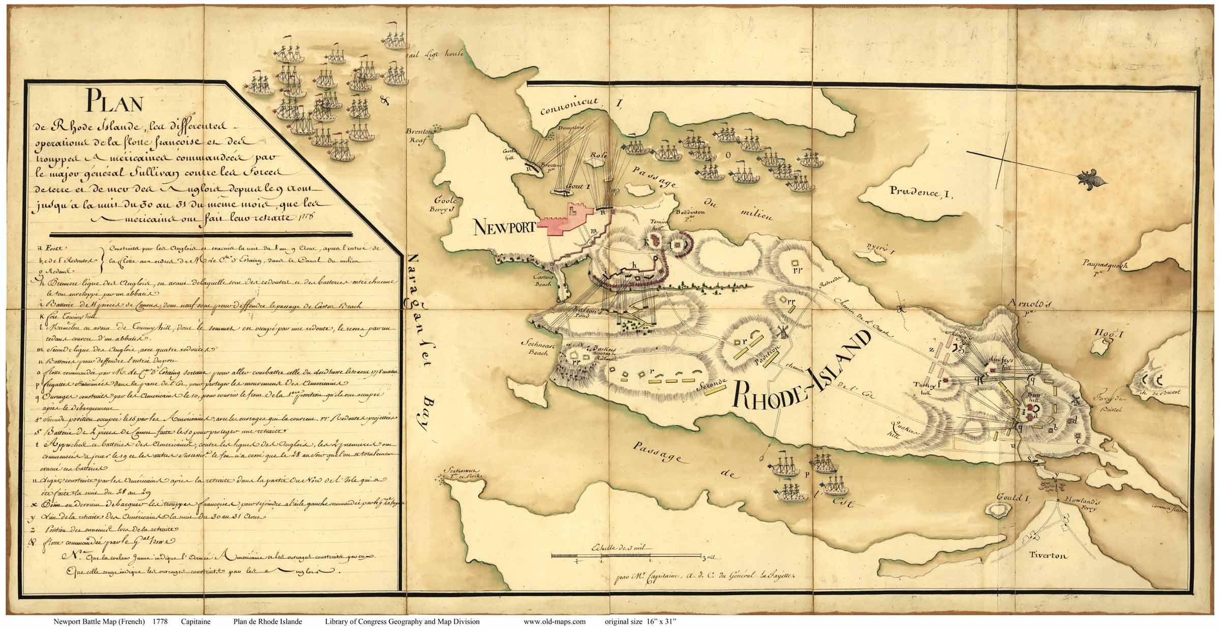 RI Newport Colonial Maps - Map of ri