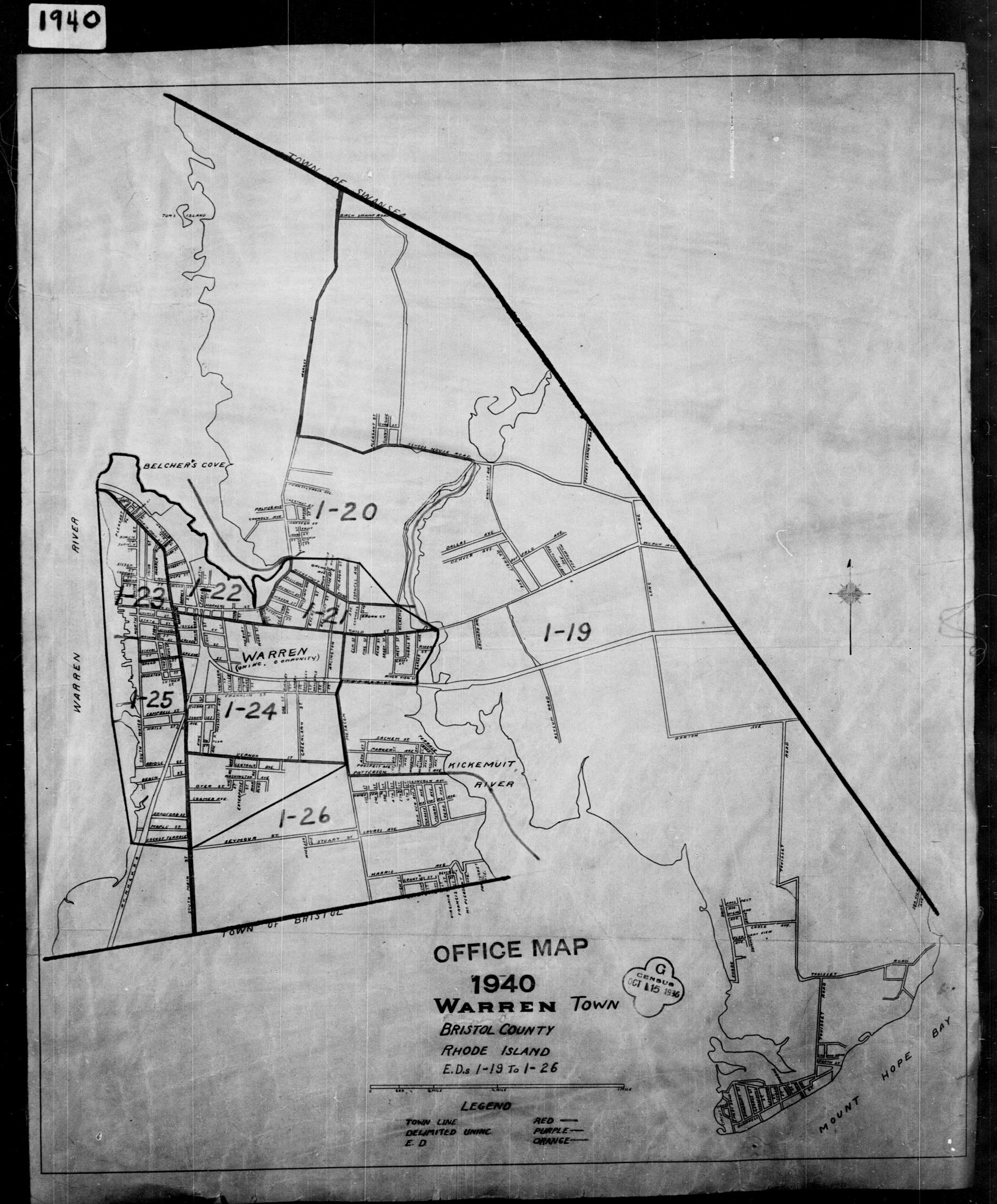 1940 census maps bristol county ri