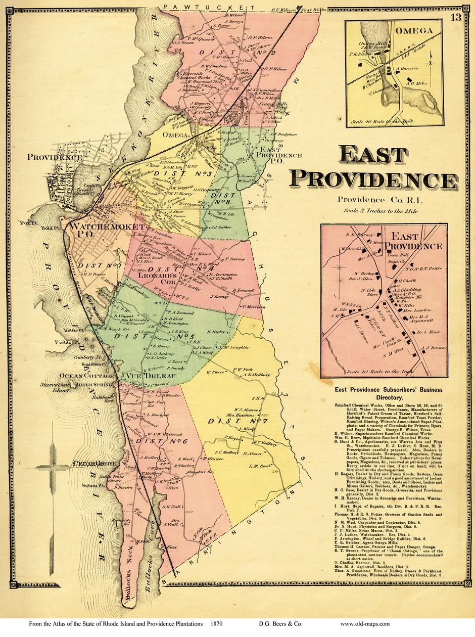Providence 1875 Atlas Volume 1