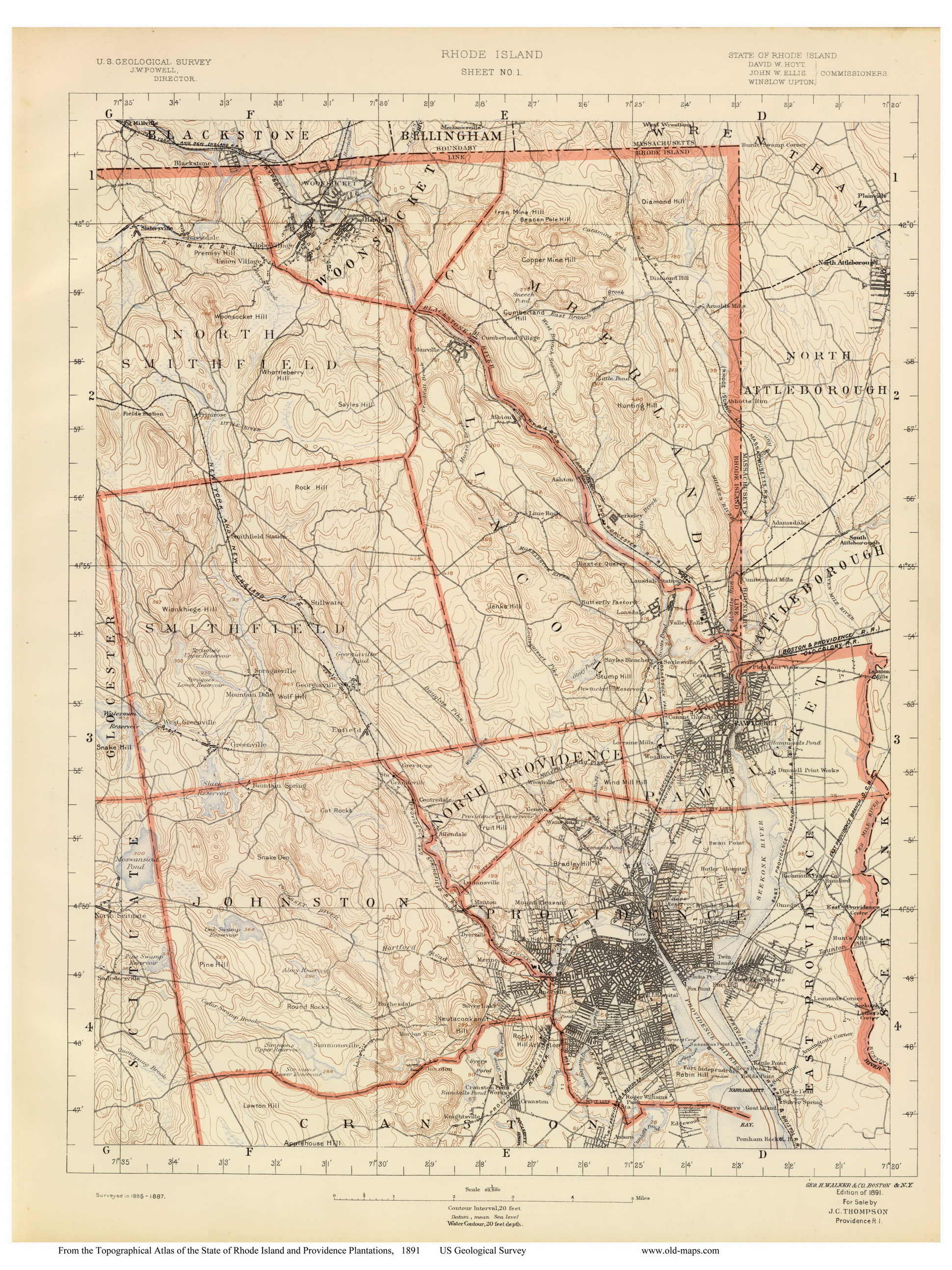 Old Maps of Rhode Island