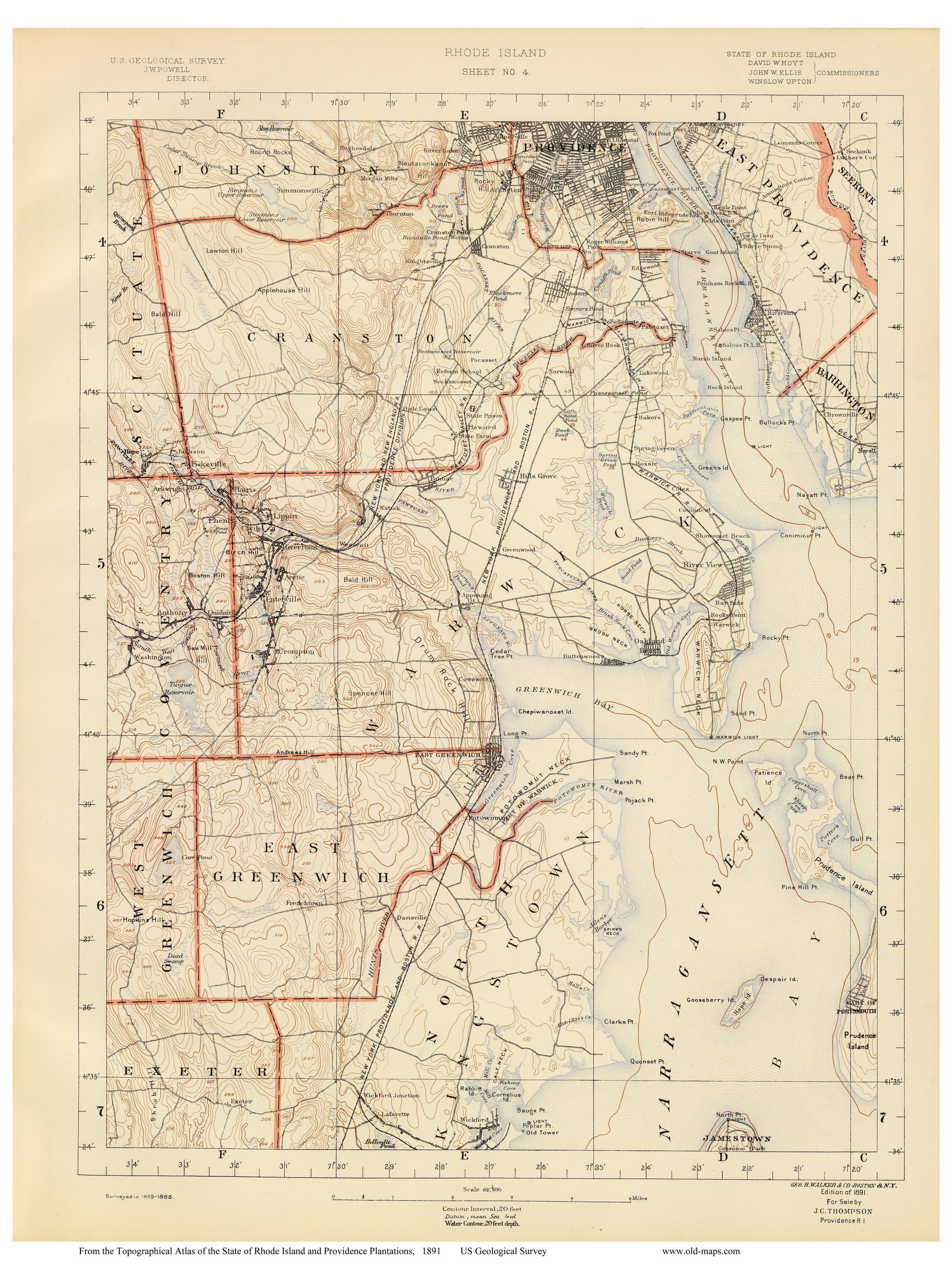 Rhode Island Old Usgs Maps