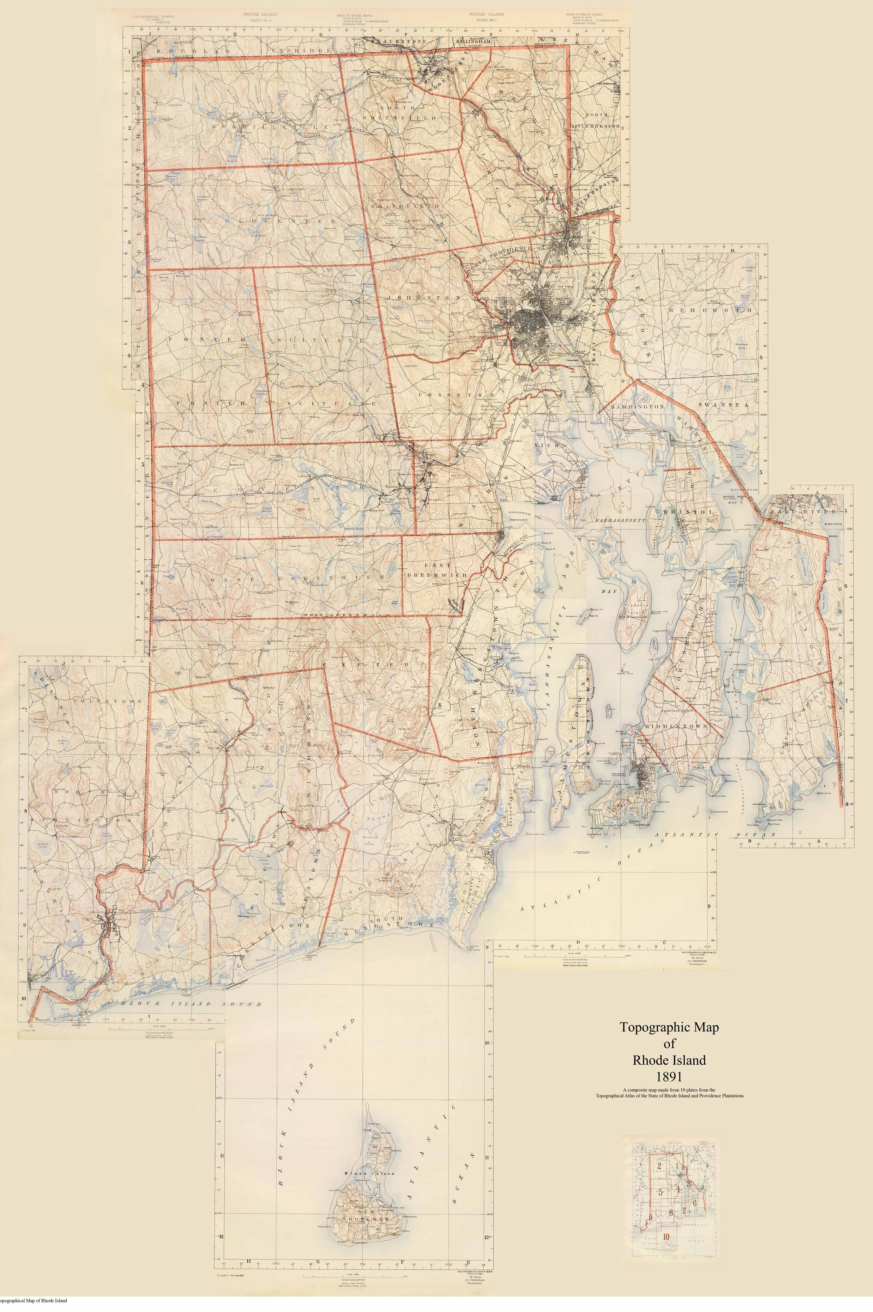 Old Rhode Island USGS Maps - Usgs map store