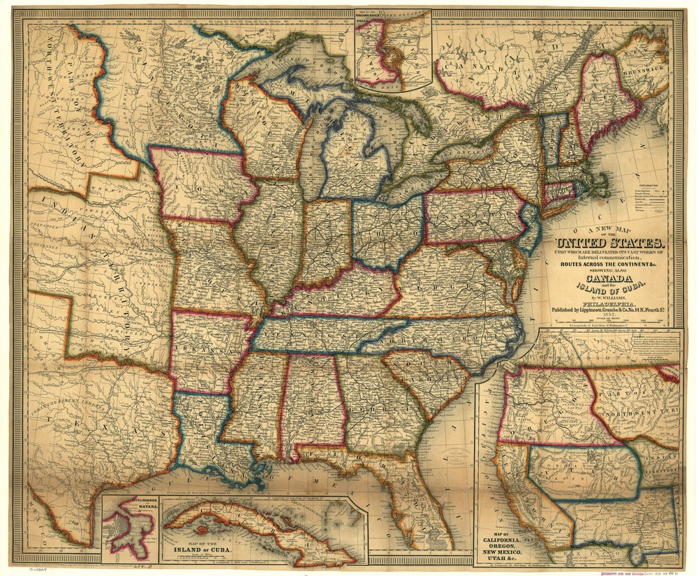 Old Railroad USA Map Prints - Us map with compass