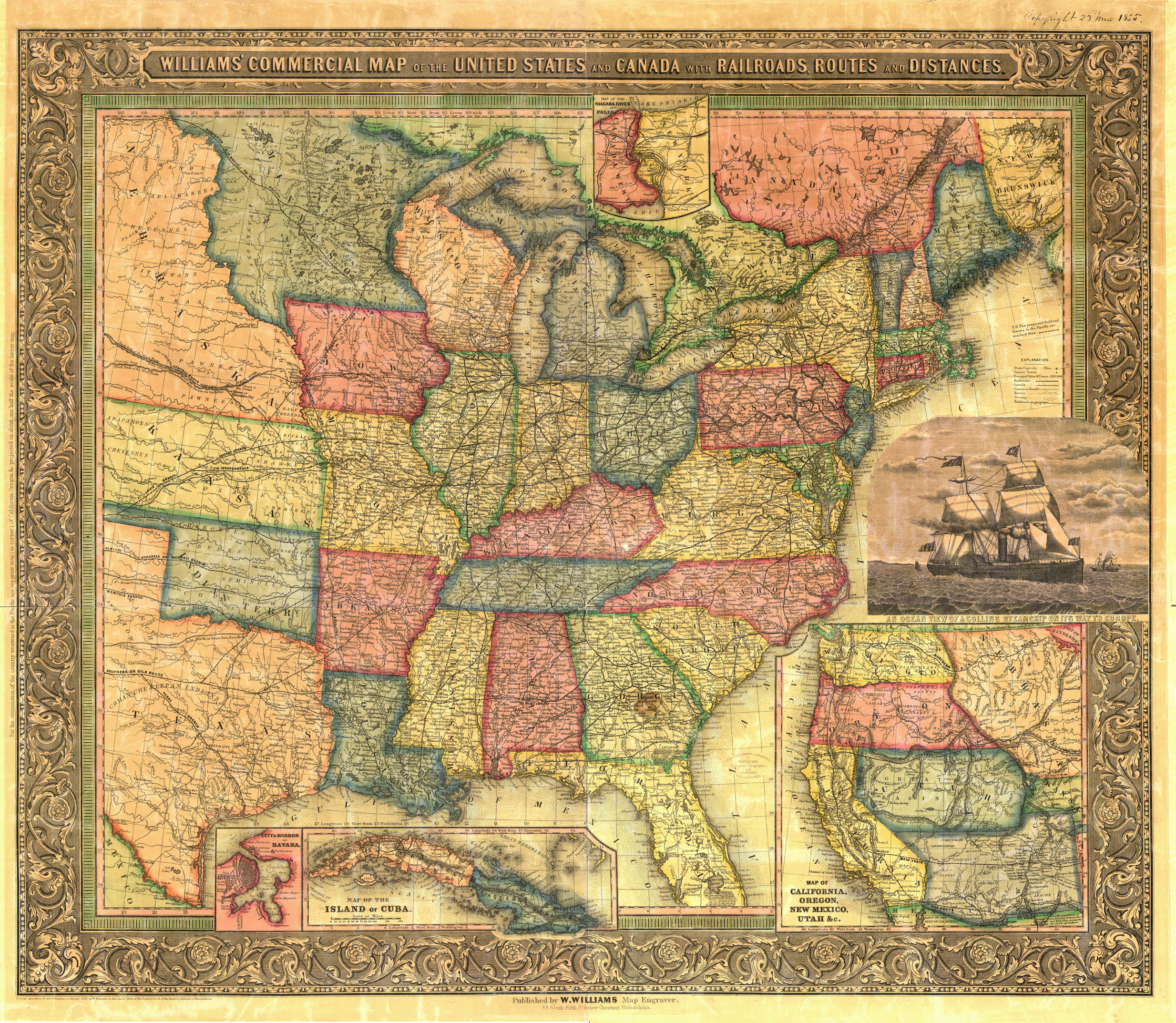 Old Railroad USA Map Prints - How old is the united states of america