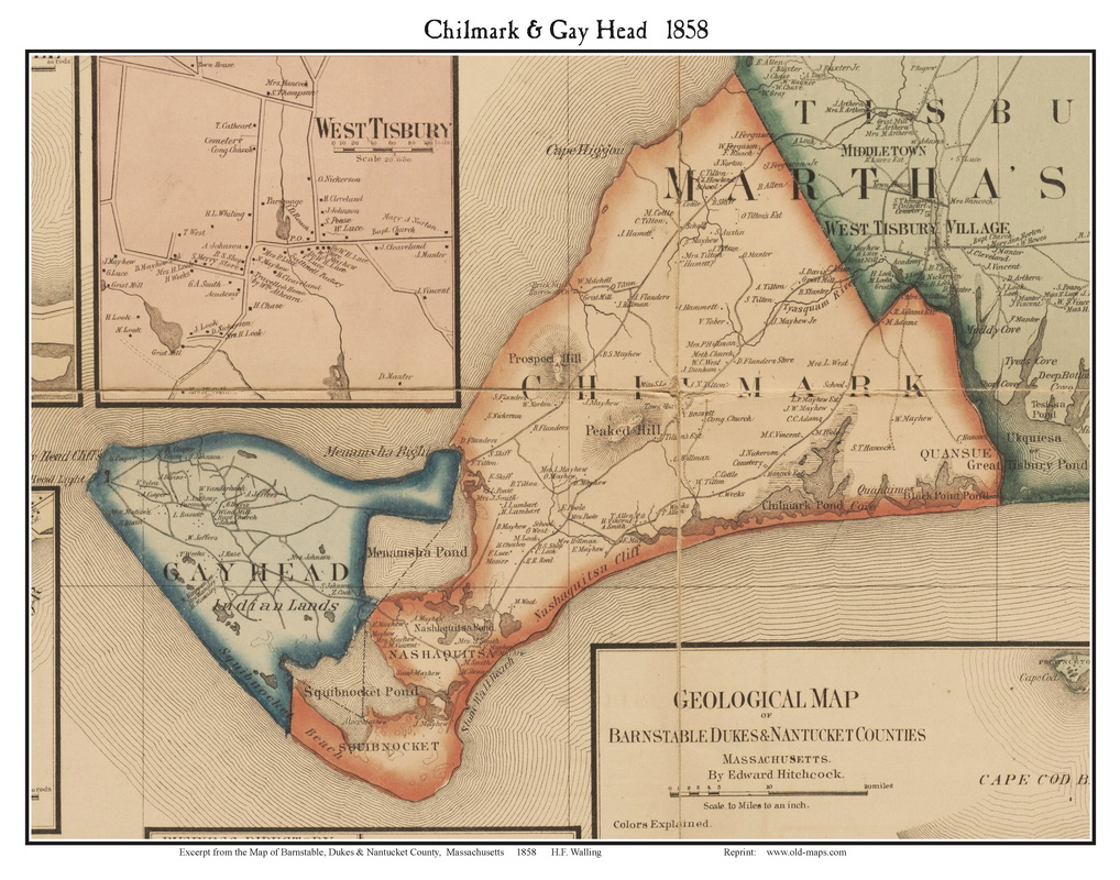 Chilmark and Gay Head 1858