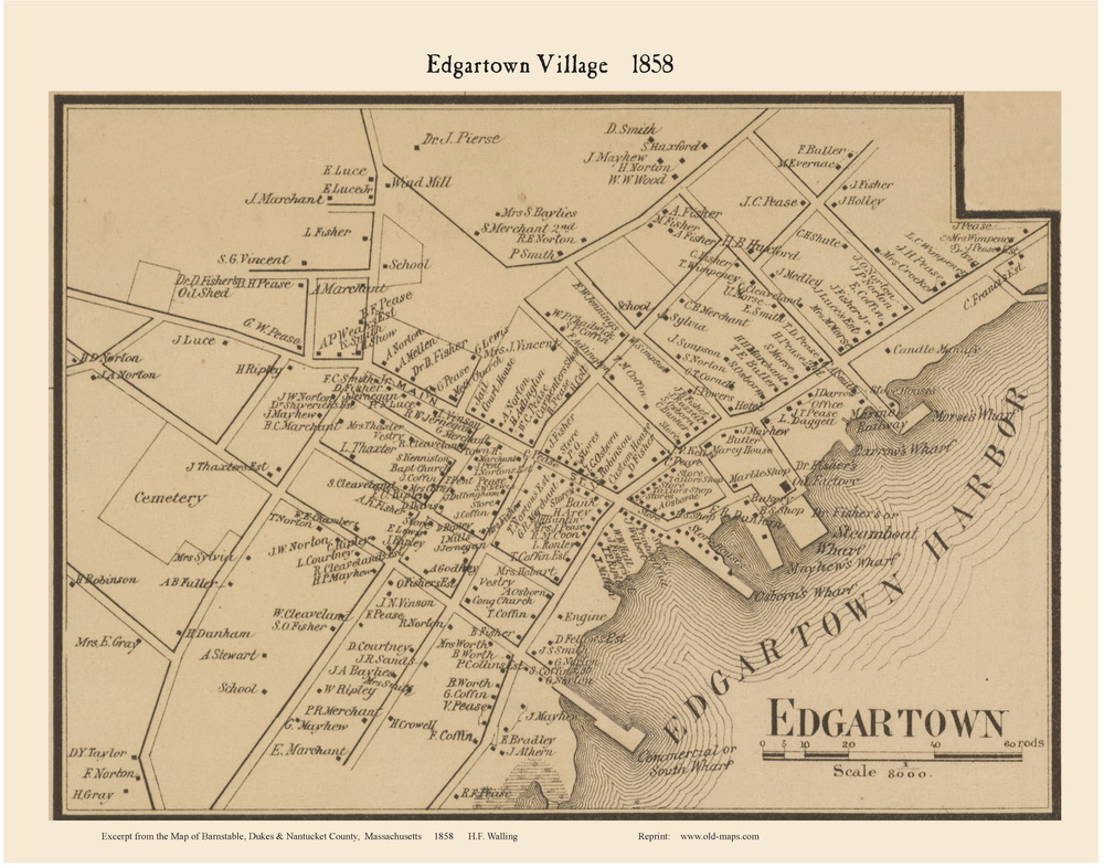 Edgartown Village 1858