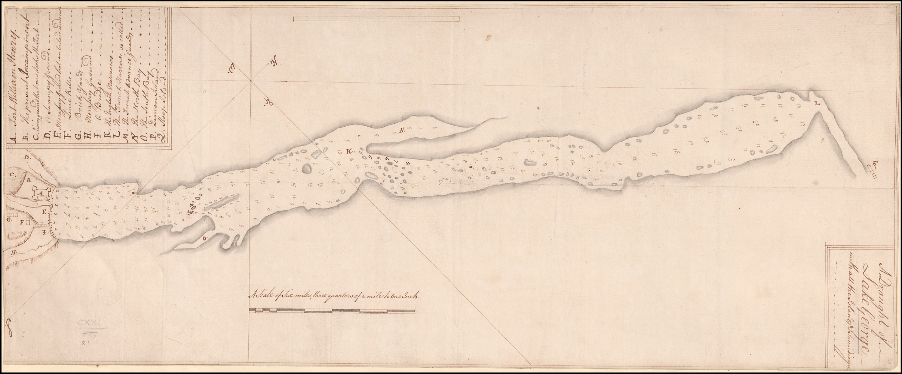 Newly added map of Lake George in New York from 1756 – Old Maps – Blog