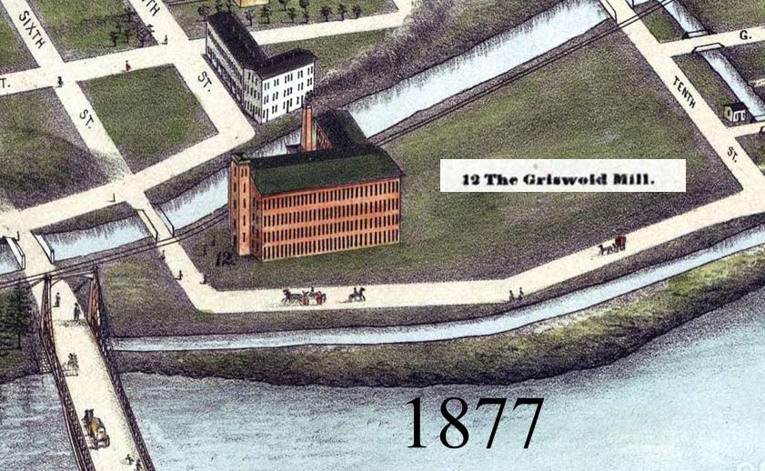 Griswold Mill Through Map-History, Turners Falls, MA