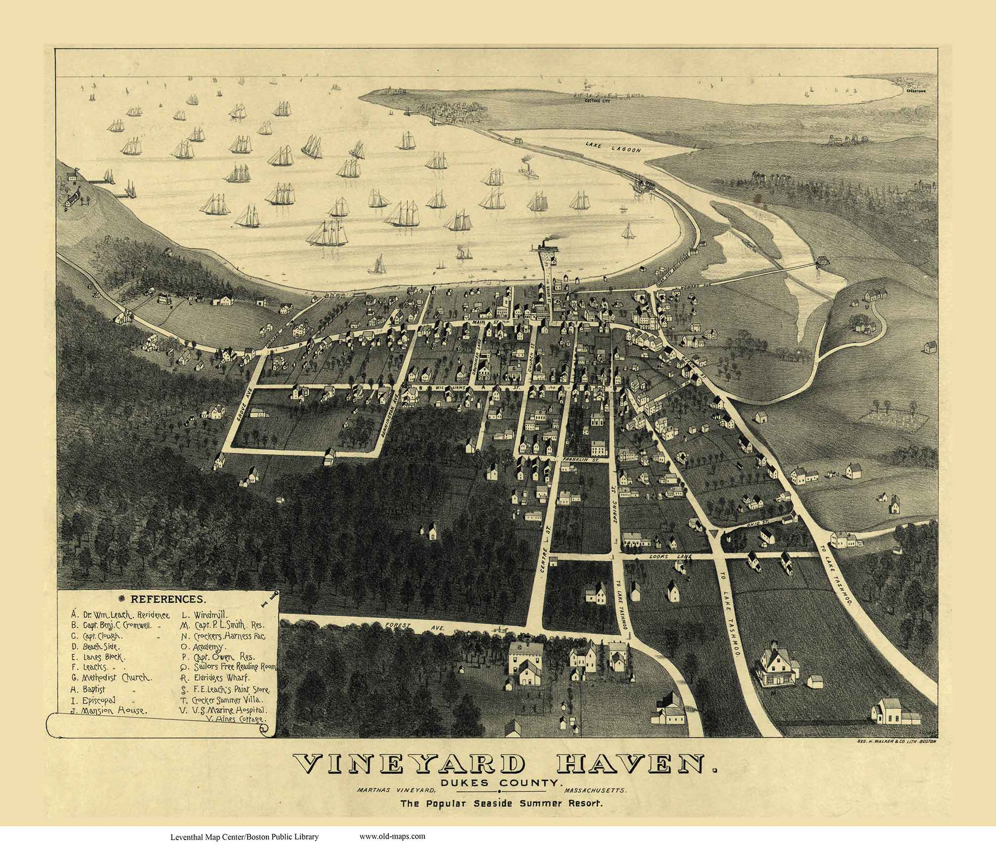Vineyard Haven 1893 Bird's Eye View