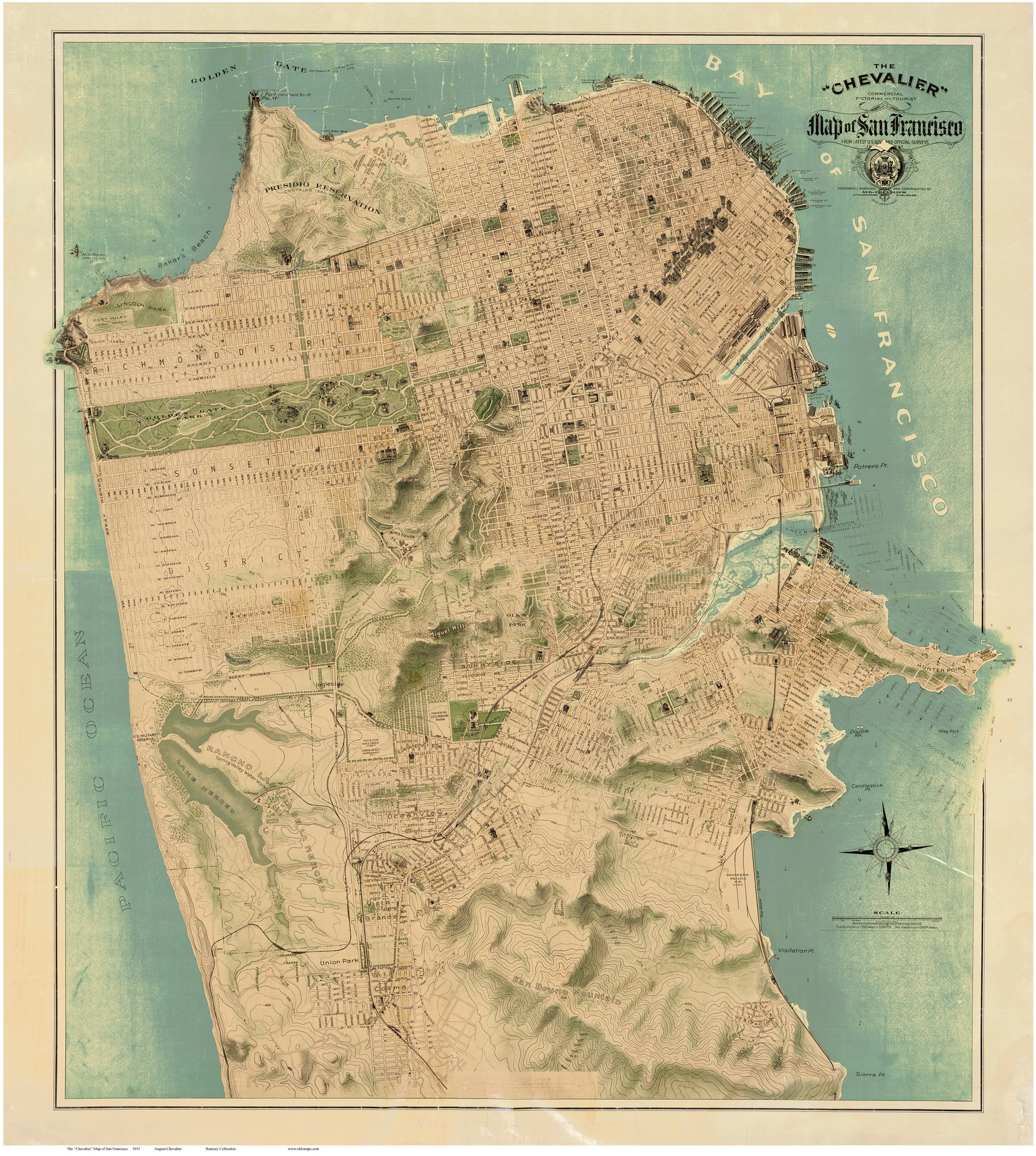 Old Maps Of California San Francisco - Us map 1847