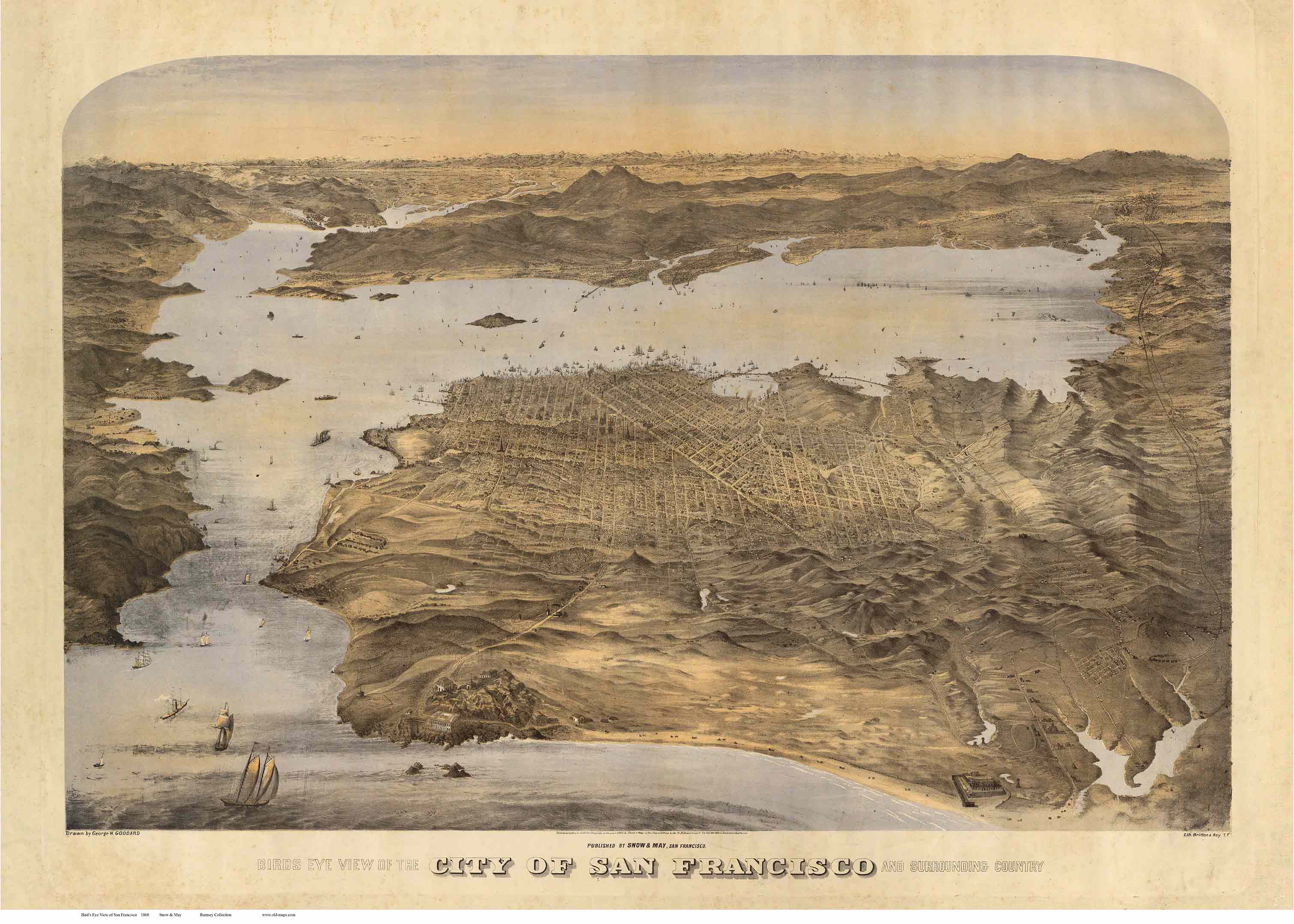 Old Maps of California   San Francisco