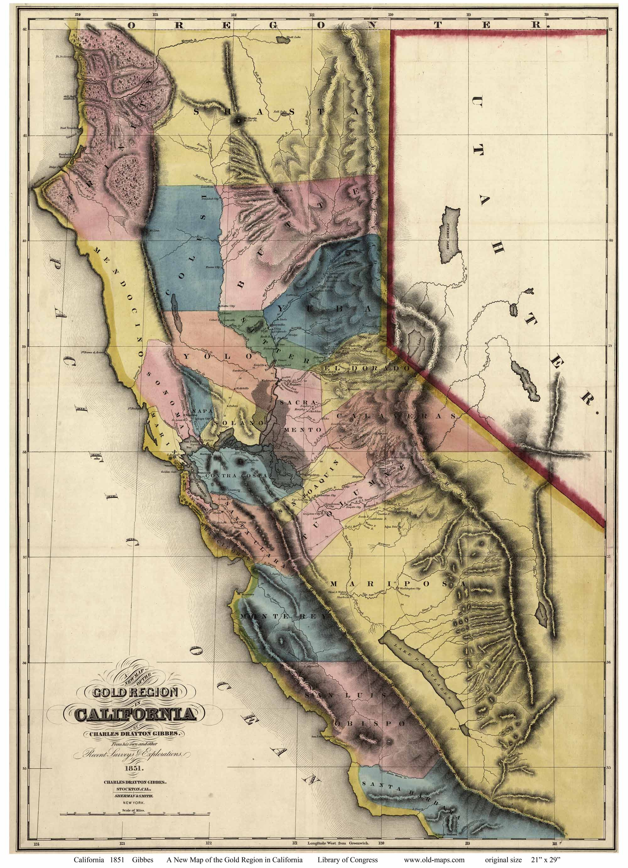 Old Maps of California - State Maps Calif Maps on