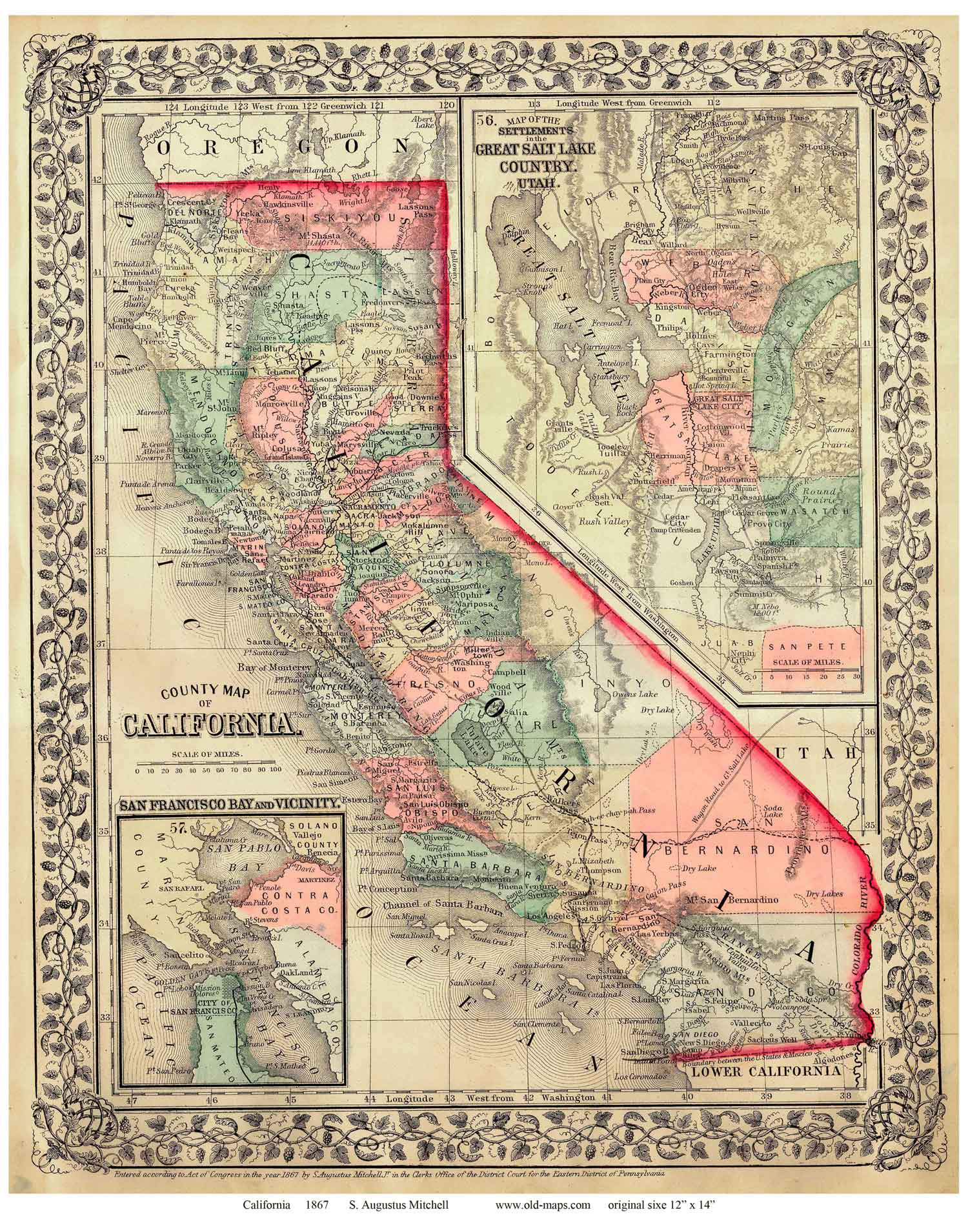 Old Maps of California State Maps