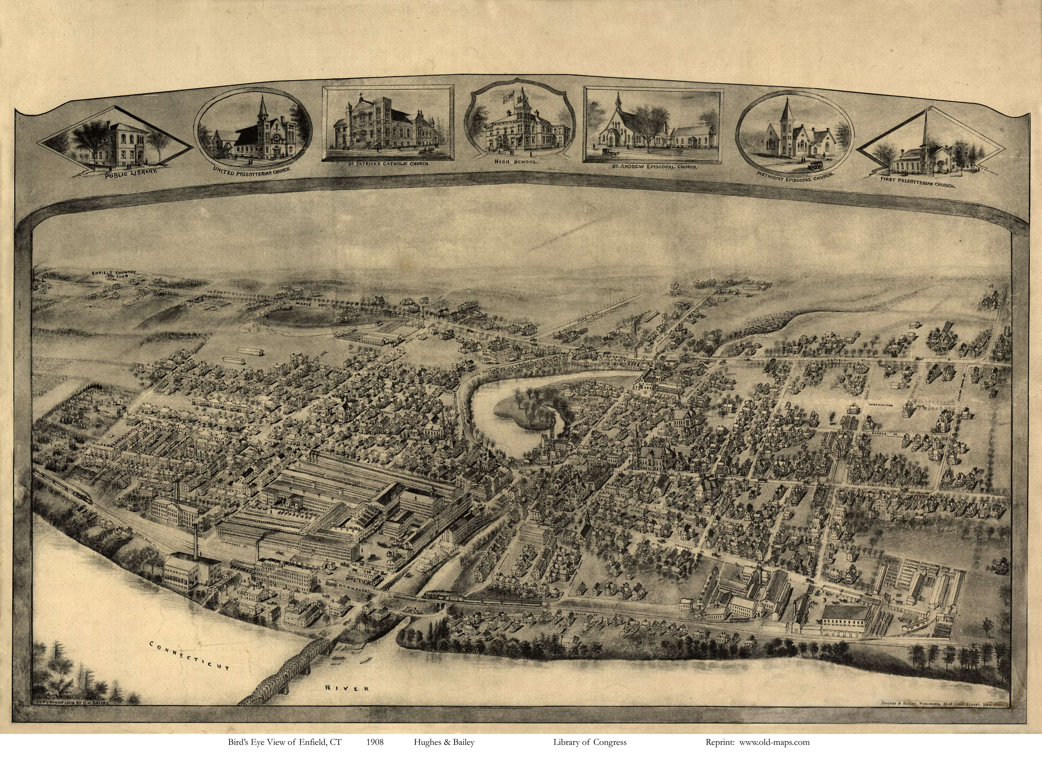 Old Maps of Hartford County, CT Retail