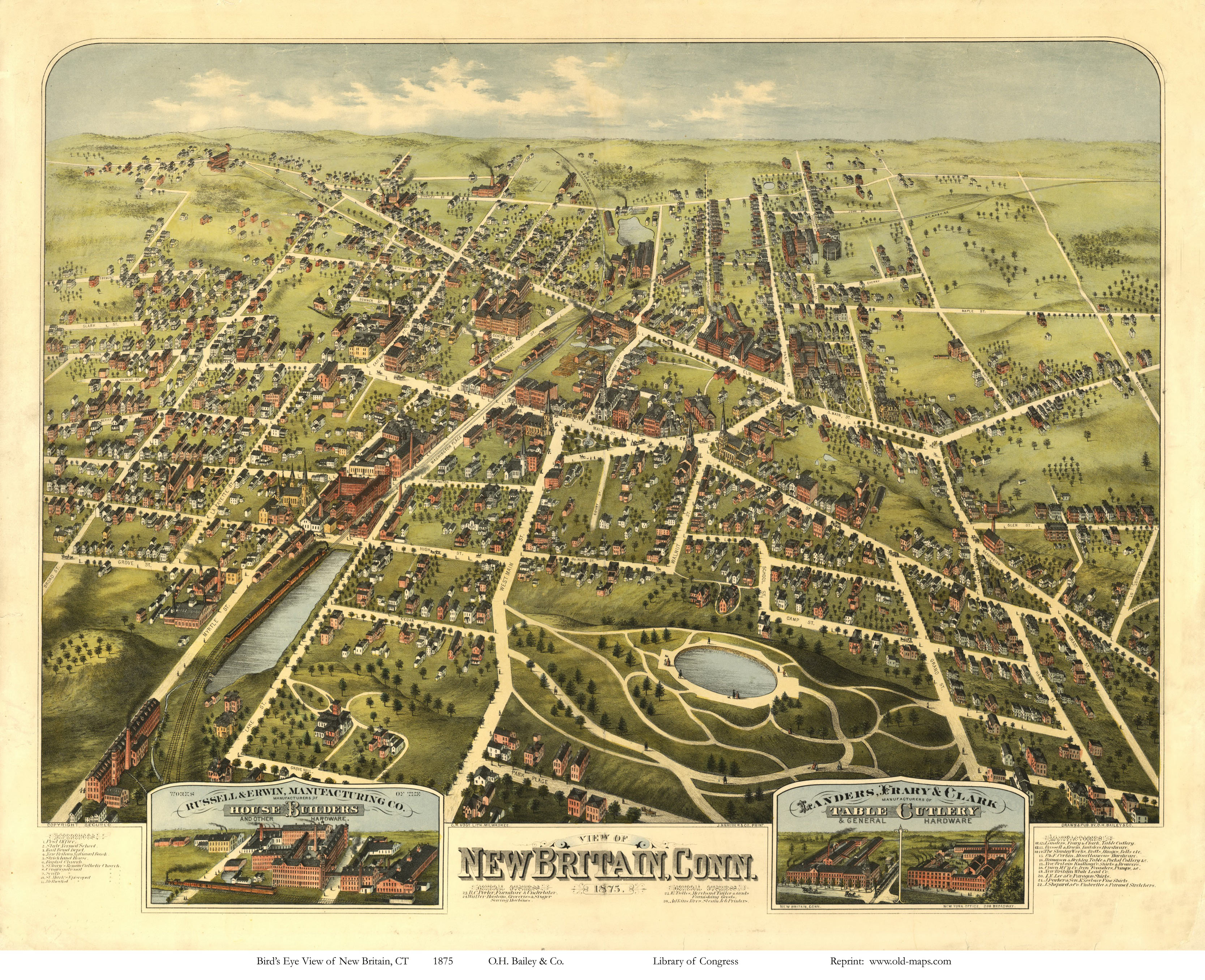 East Windsor Ct >> Old Maps of Hartford County, CT Retail