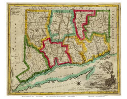Old Maps Of Connecticut - Old state maps for sale
