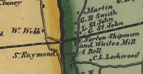 Map of Fairfield County, CT 1856