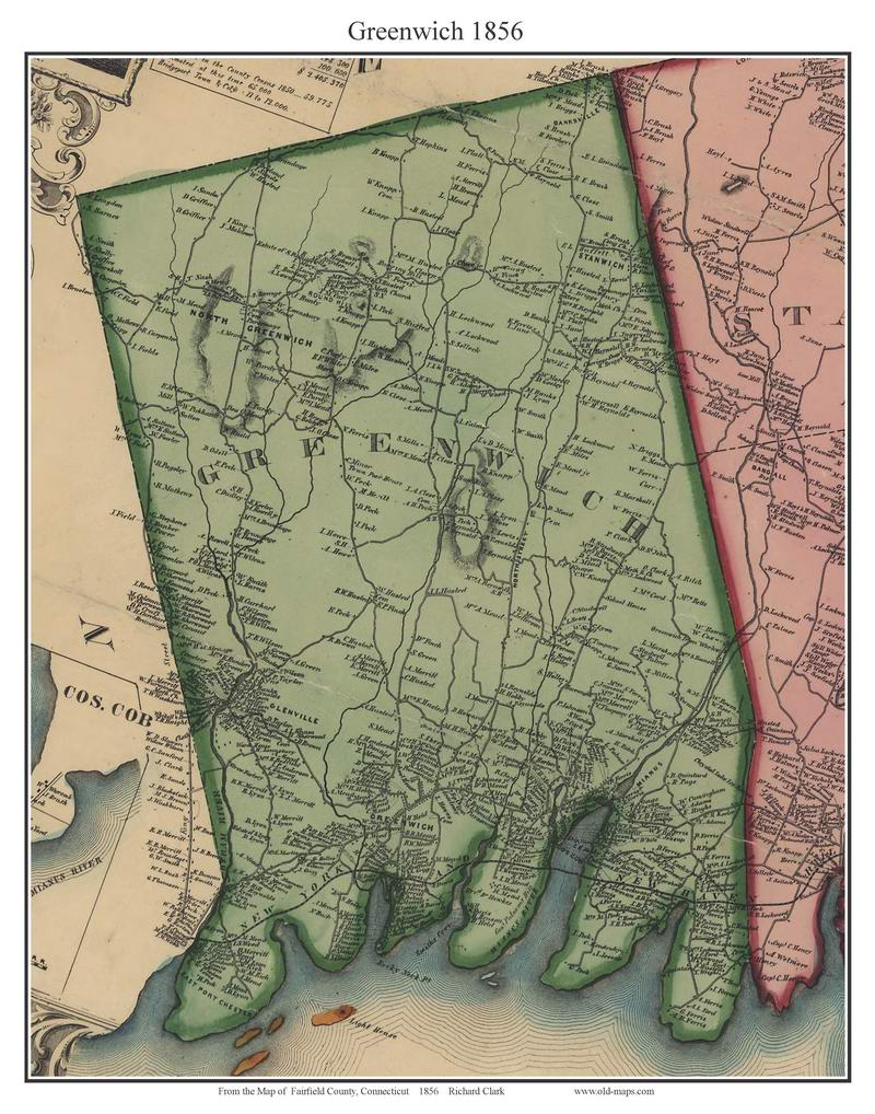 . fairfield county ct single map reprints