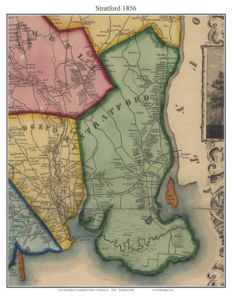 Fairfield County Connecticut Old Maps