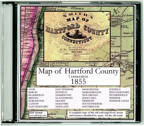 Hartford County Connecticut Old Maps