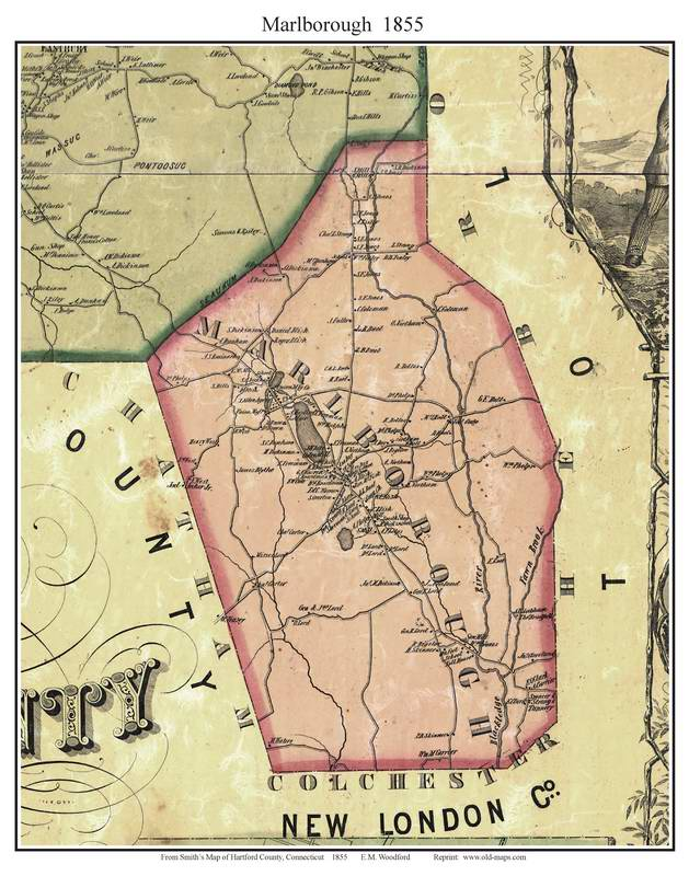 Hartford County CT Single Map Reprints