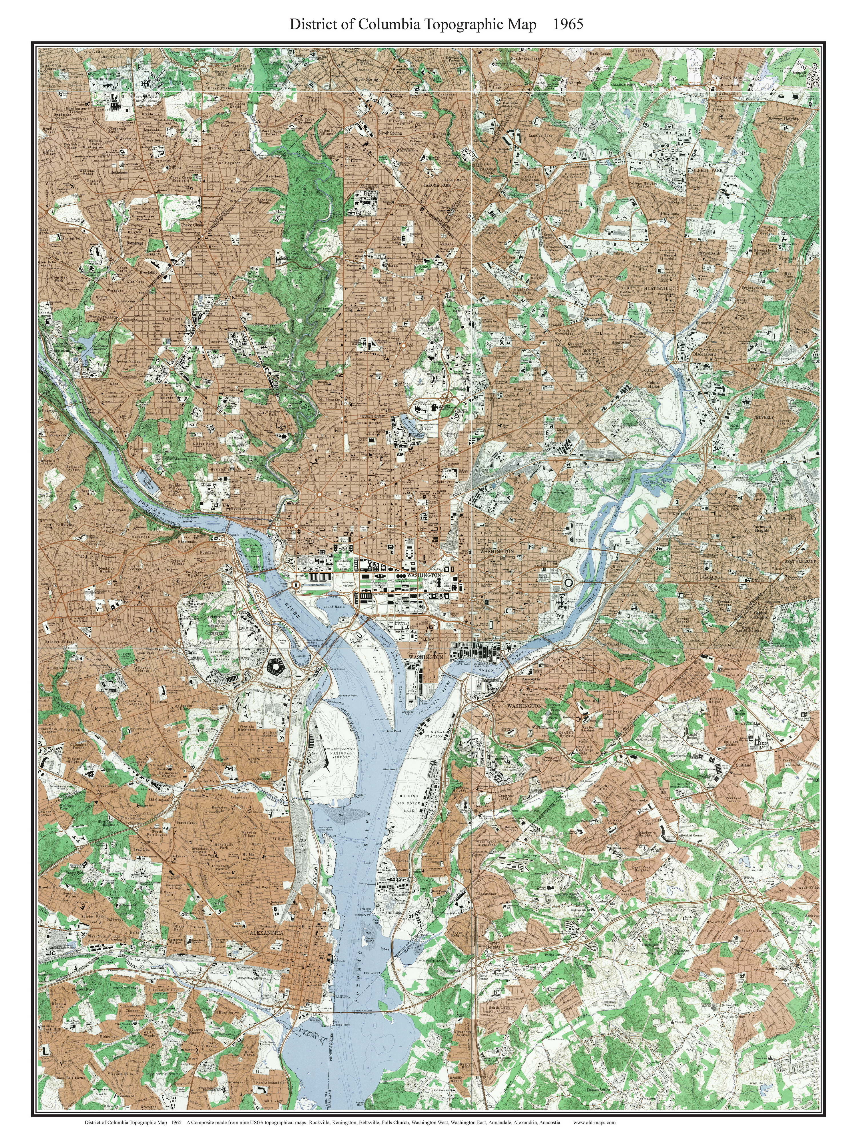 Topographic Map Washington Dc.Old Topo Maps Of Washington D C