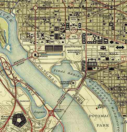 Topographic Map Washington Dc.Topographical Map Of Washington Dc 1945