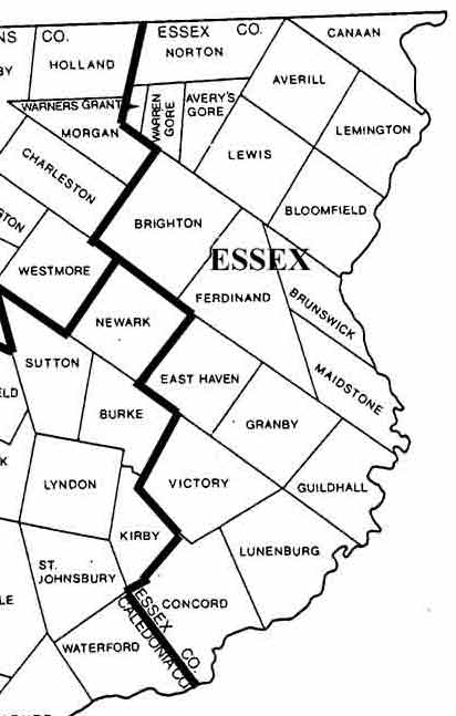 Essex Vermont Map Old Maps of Essex County Vermont