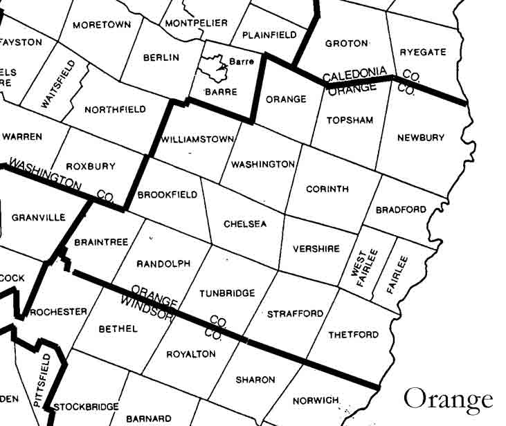 Orange County Vermont Maps