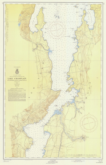 Champlain S 1607 Map Of New England