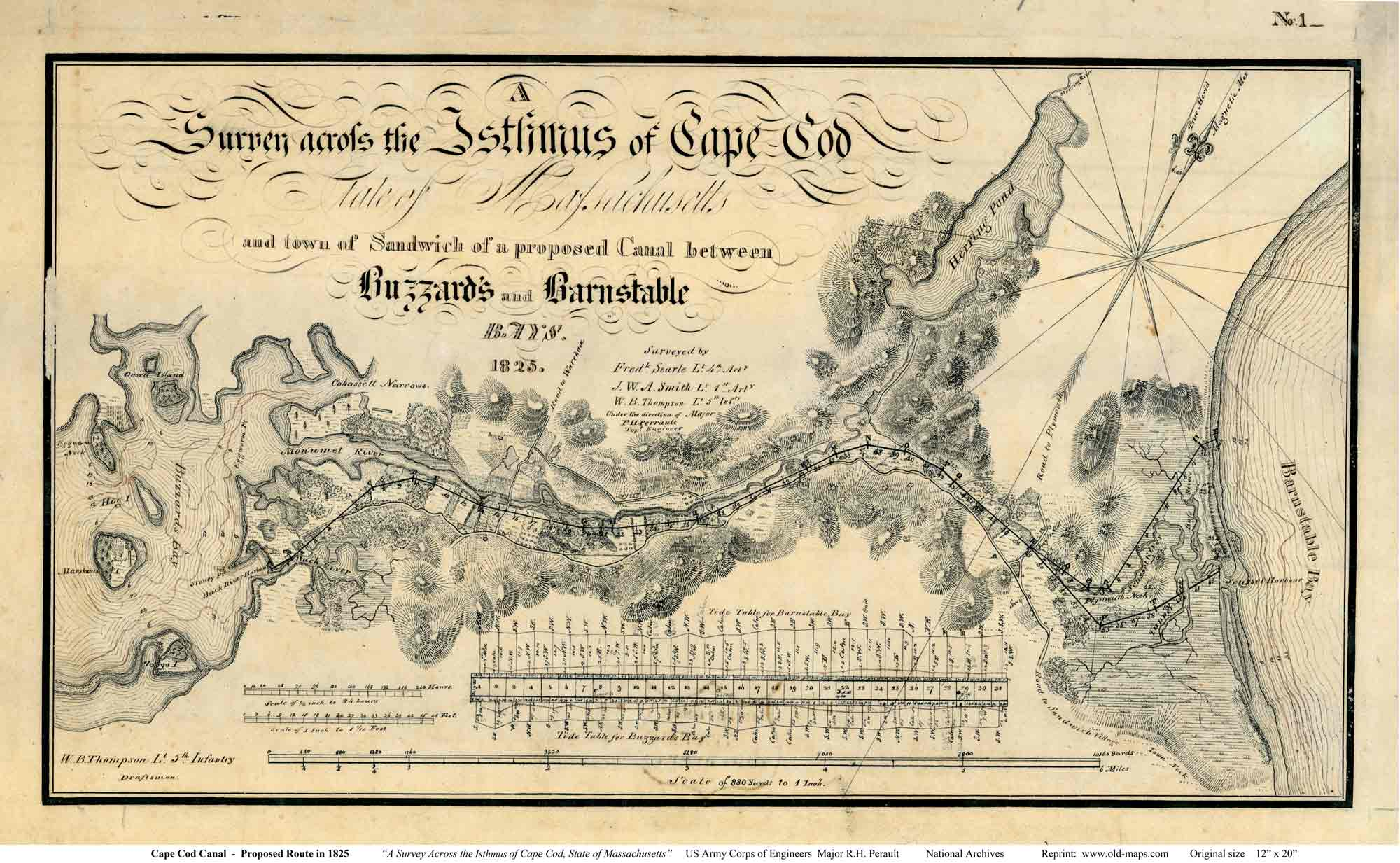 Old Maps Of The Cape Cod Canal - Old us map