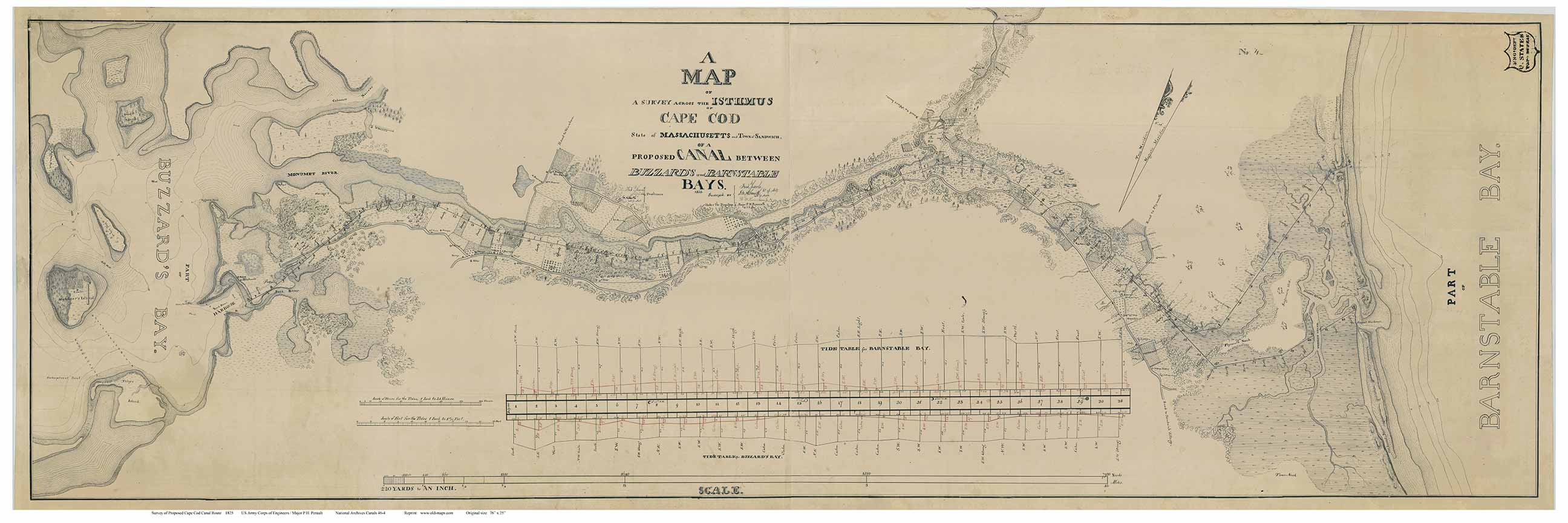 Old Maps of The Cape Cod Canal