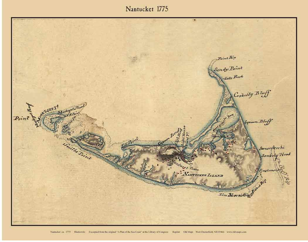 Nautical Maps of Nantucket